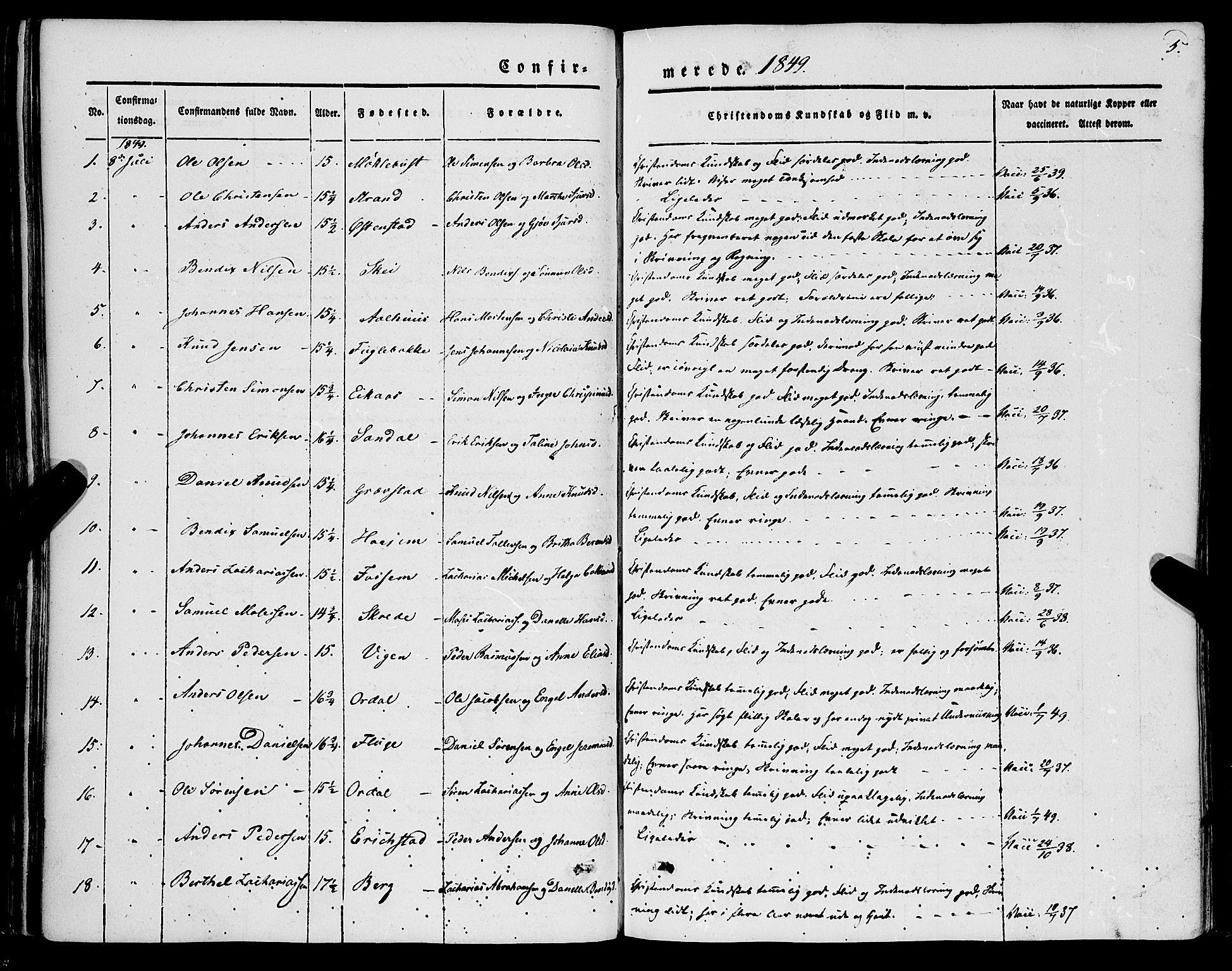 SAB, Jølster sokneprestembete, H/Haa/Haaa/L0010: Parish register (official) no. A 10, 1847-1865, p. 5