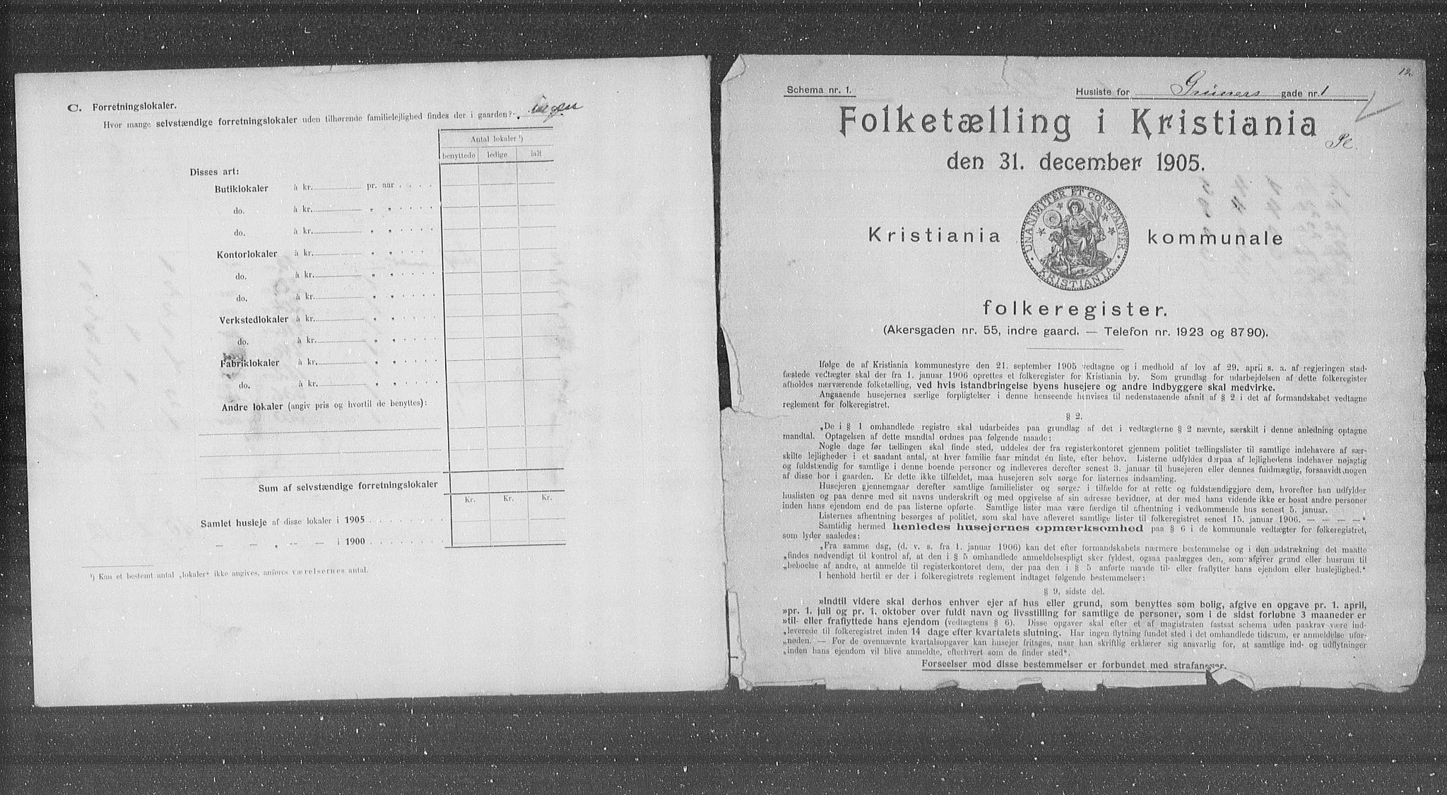 OBA, Municipal Census 1905 for Kristiania, 1905, p. 15862