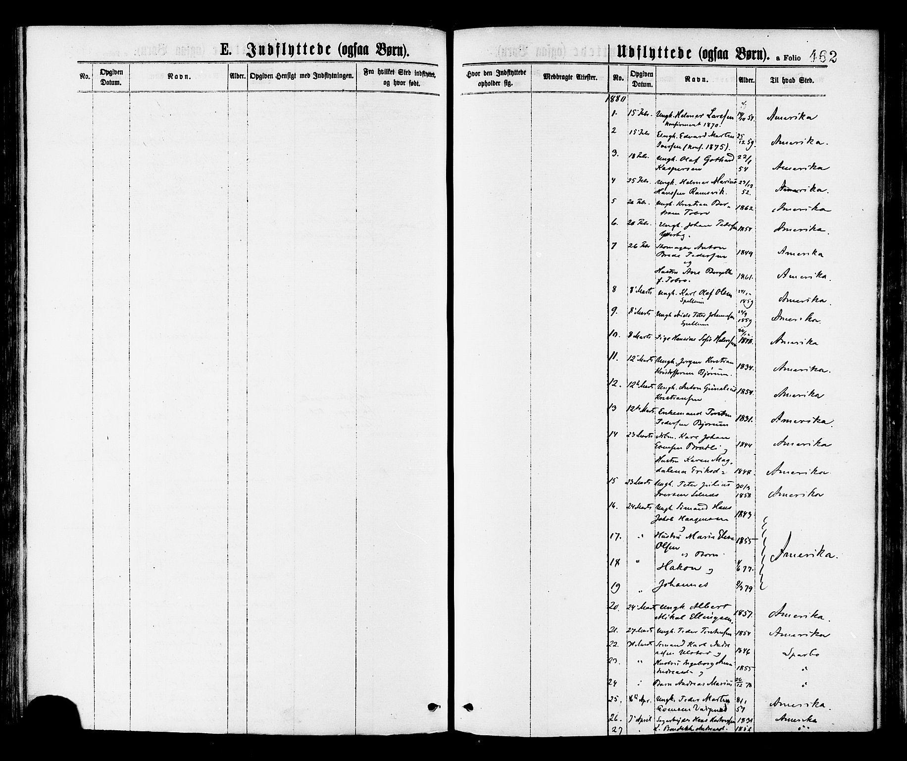 SAT, Ministerialprotokoller, klokkerbøker og fødselsregistre - Nord-Trøndelag, 768/L0572: Parish register (official) no. 768A07, 1874-1886, p. 462