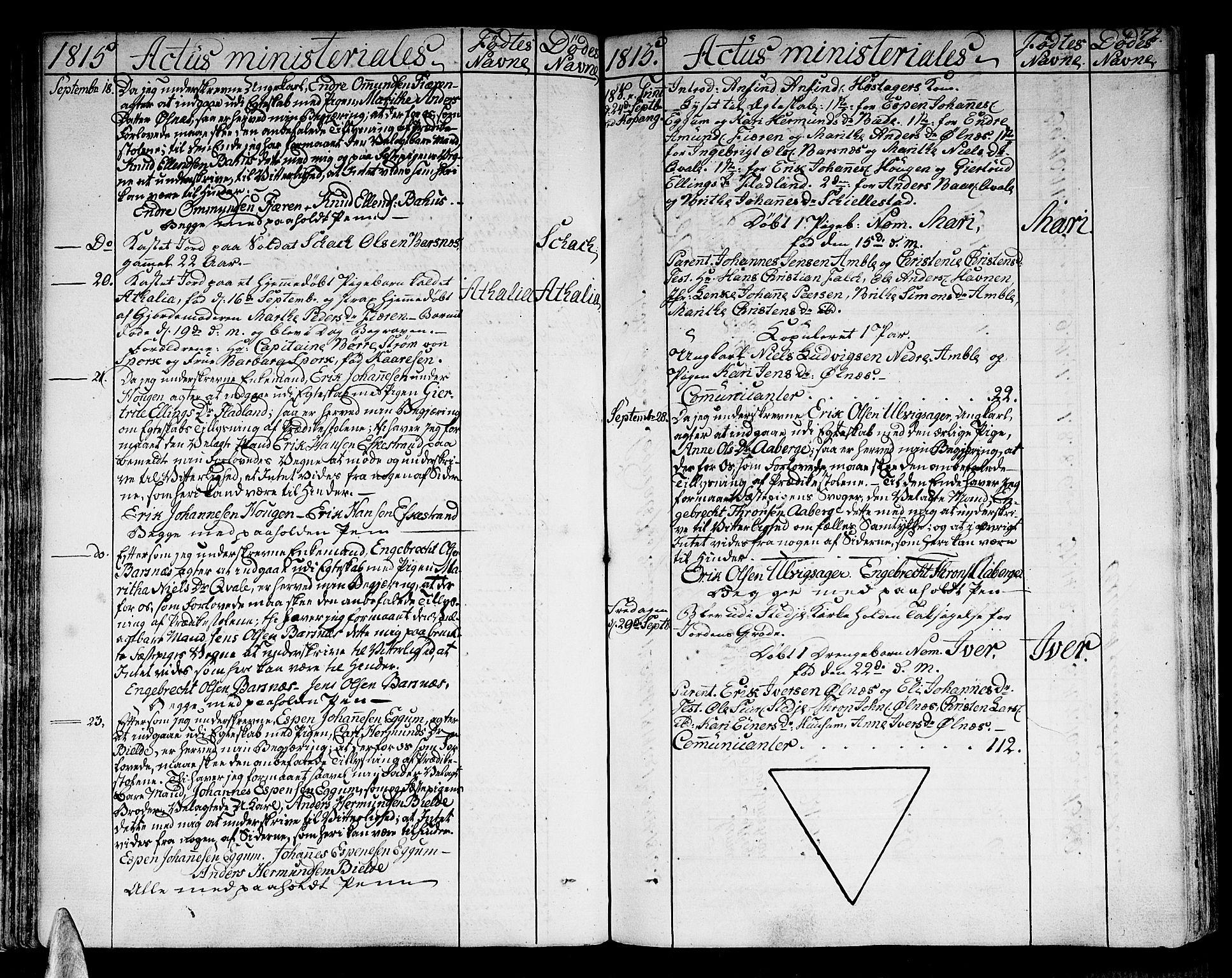 SAB, Sogndal sokneprestembete, H/Haa/Haaa/L0009: Parish register (official) no. A 9, 1809-1821, p. 72