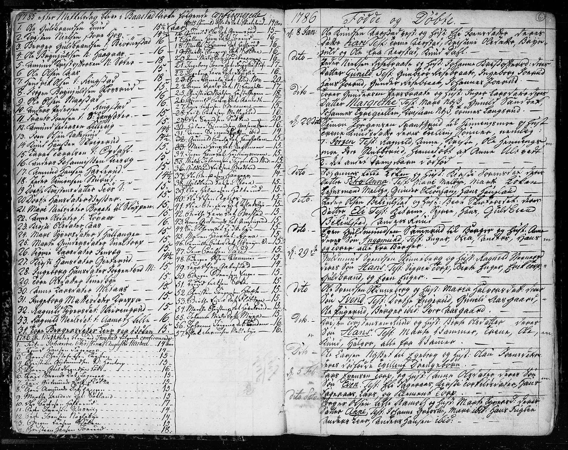 SAO, Trøgstad prestekontor Kirkebøker, F/Fa/L0005: Parish register (official) no. I 5, 1784-1814, p. 6