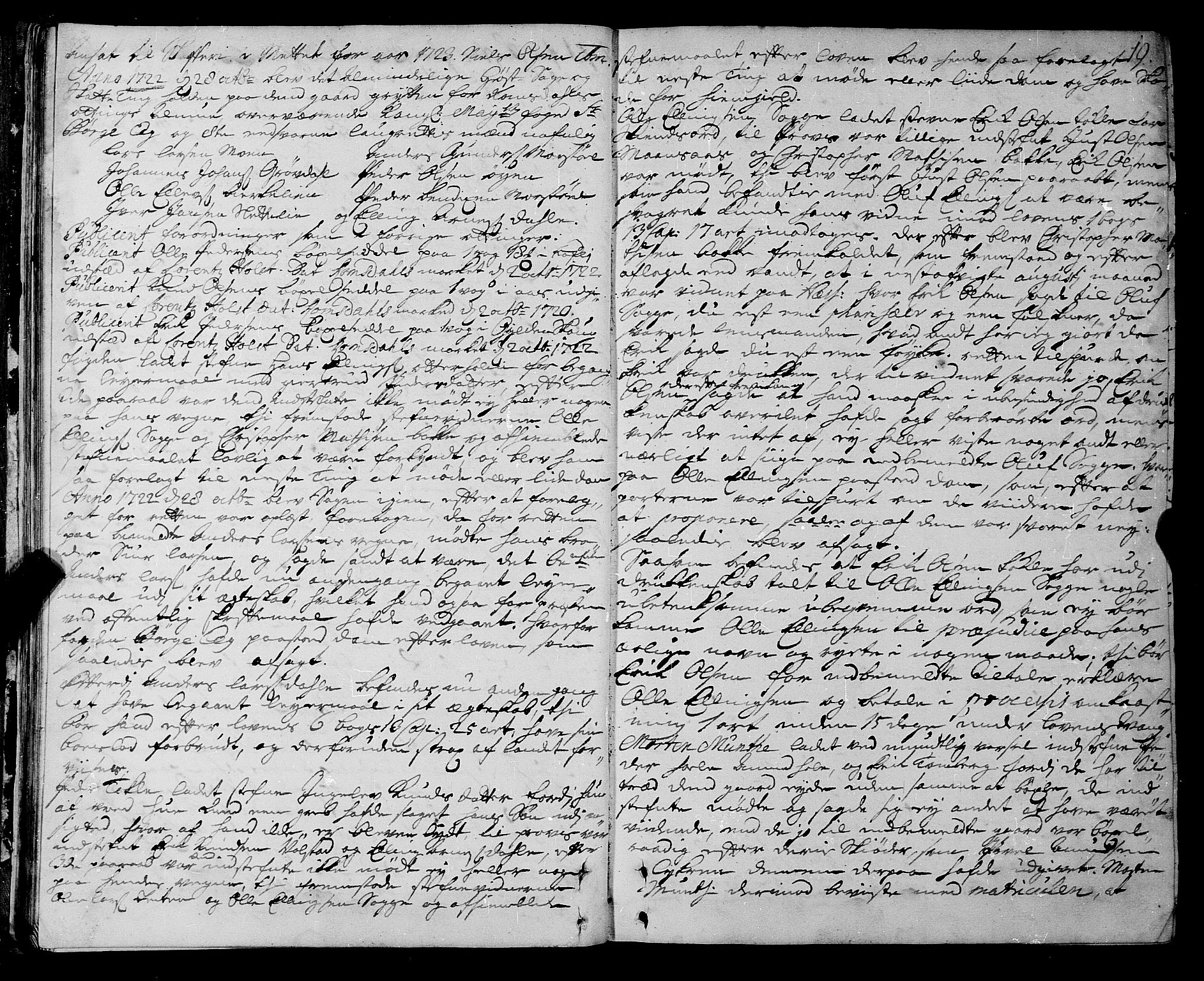 SAT, Romsdal sorenskriveri, 1/1A/L0009: Tingbok, 1722-1728, p. 18b-19a