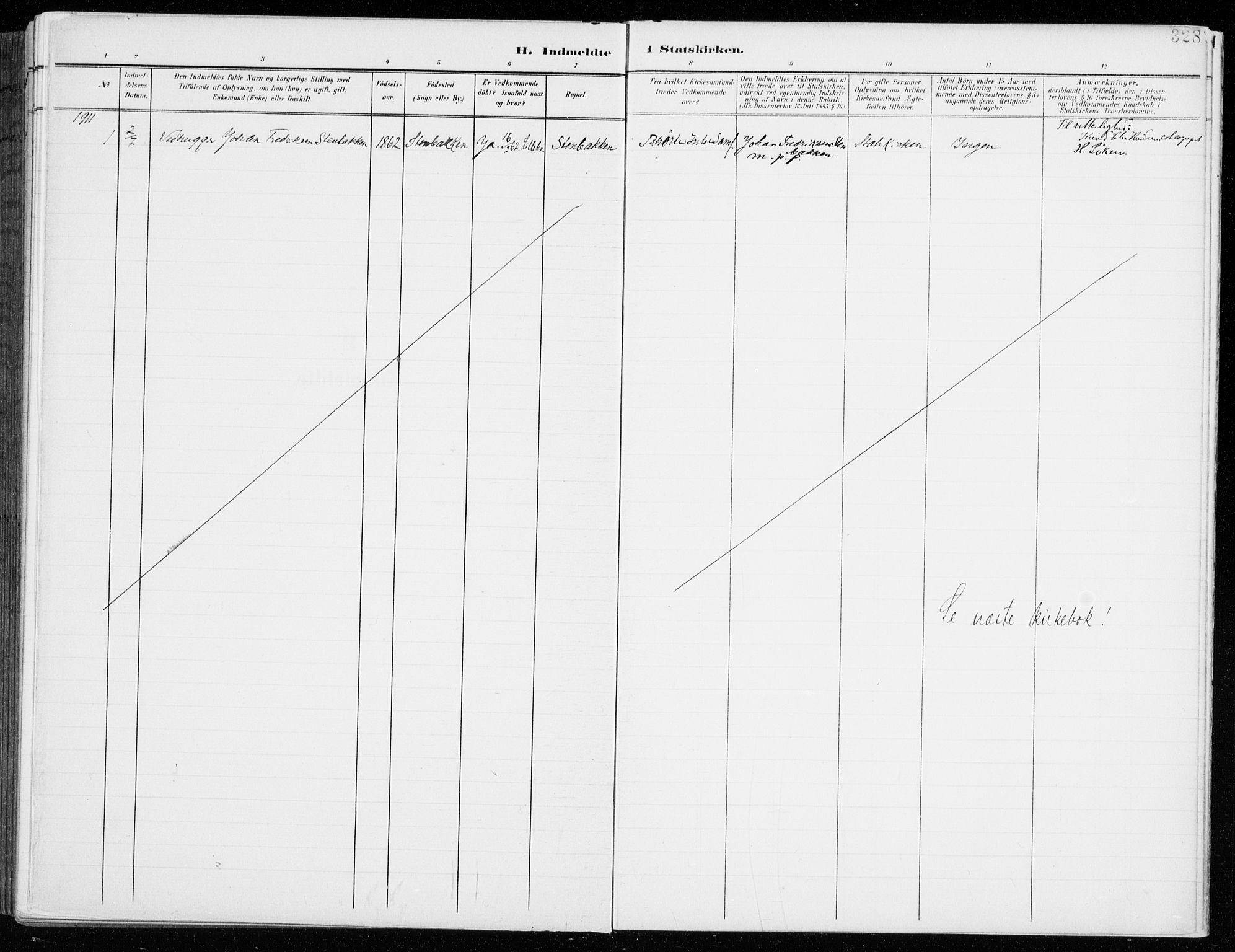SAH, Fåberg prestekontor, H/Ha/Haa/L0011: Parish register (official) no. 11, 1899-1913, p. 328