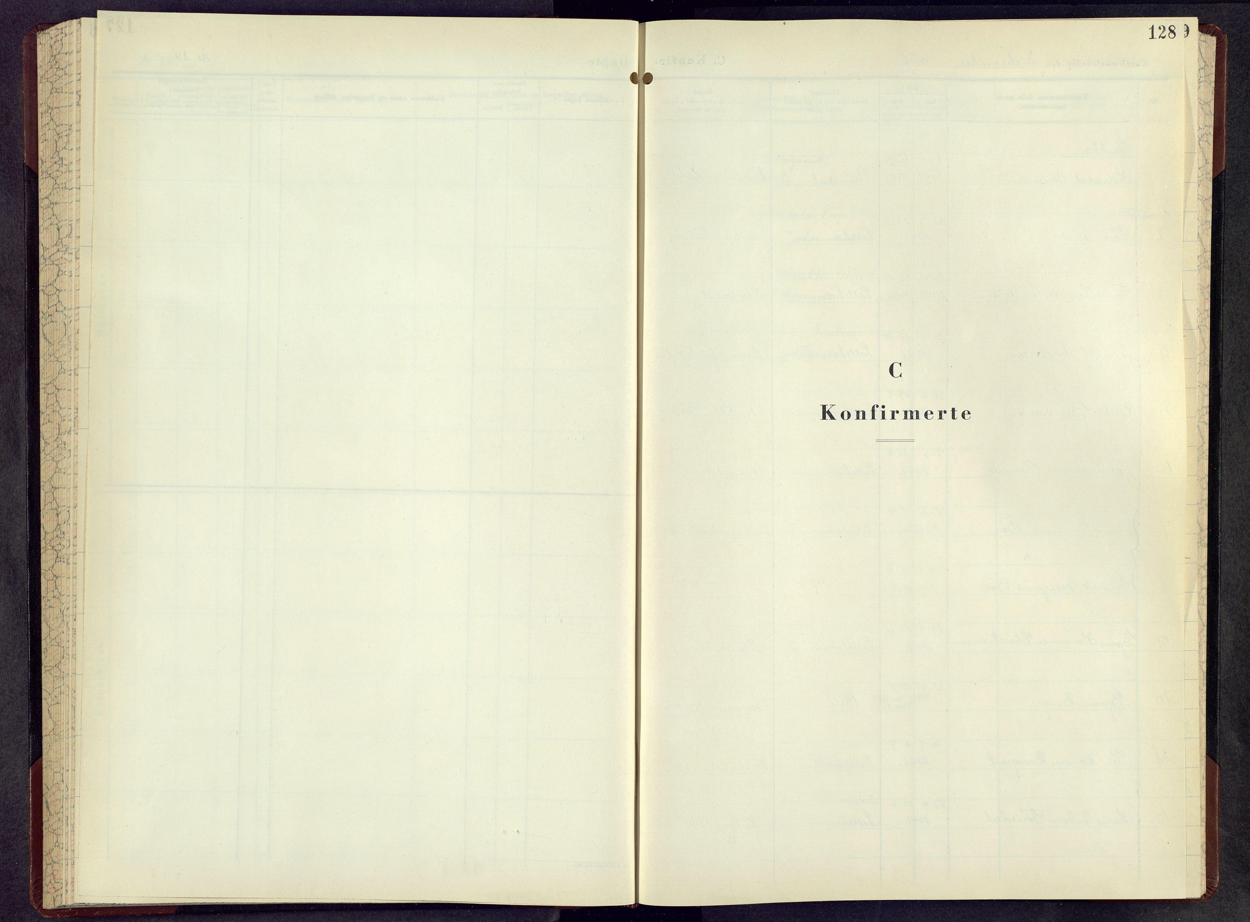 SAH, Lillehammer prestekontor, H/Ha/Hab/L0006: Parish register (copy) no. 6, 1956-1958, p. 128