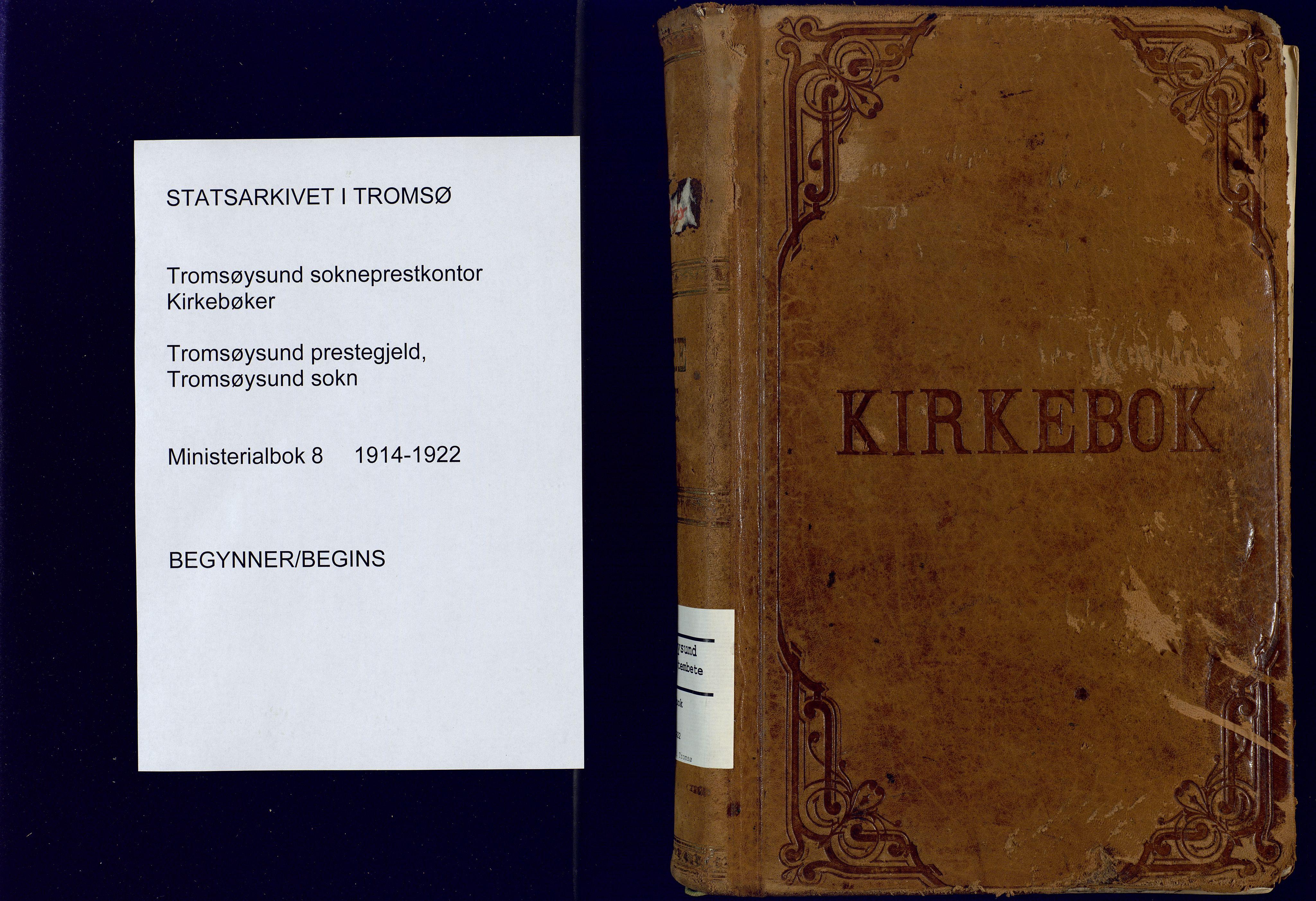 SATØ, Tromsøysund sokneprestkontor, G/Ga: Parish register (official) no. 8, 1914-1922