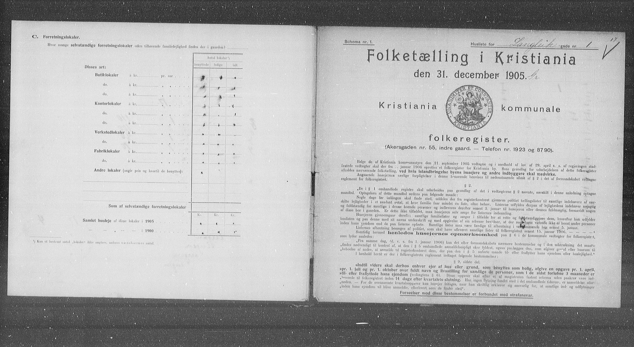 OBA, Municipal Census 1905 for Kristiania, 1905, p. 29872