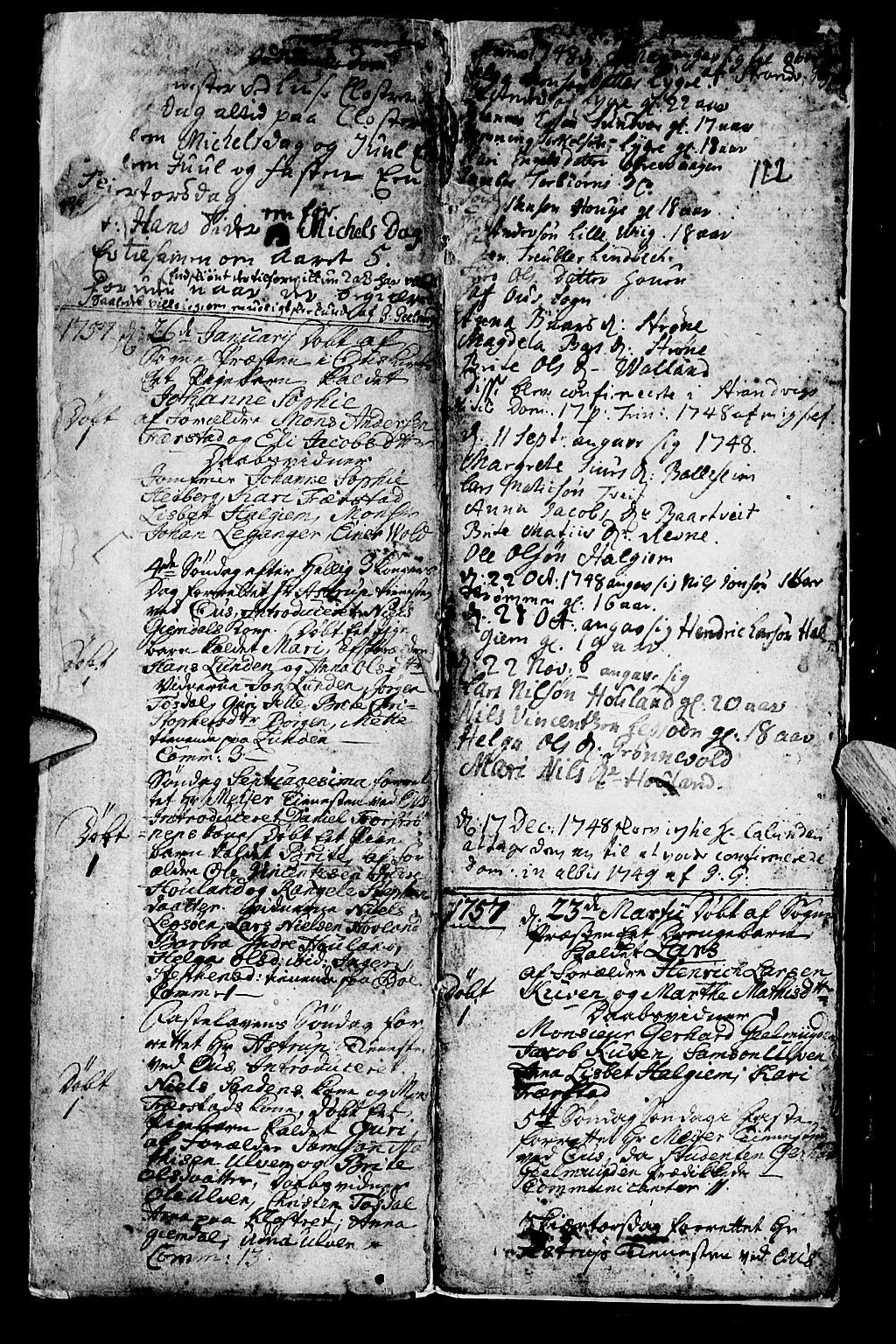 SAB, Os sokneprestembete*, Parish register (official) no. A 2, 1723-1758, p. 122