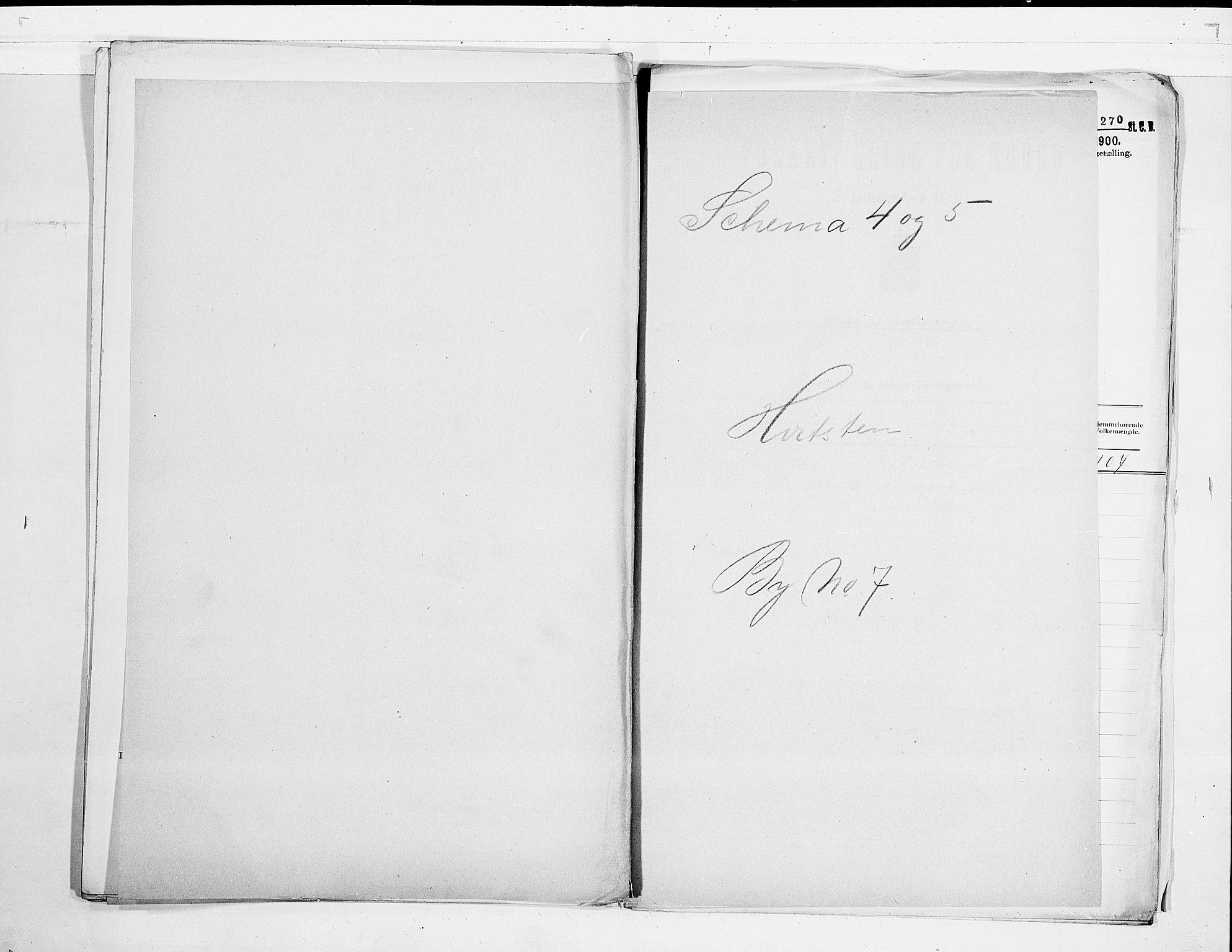 SAO, 1900 census for Hvitsten, 1900, p. 1