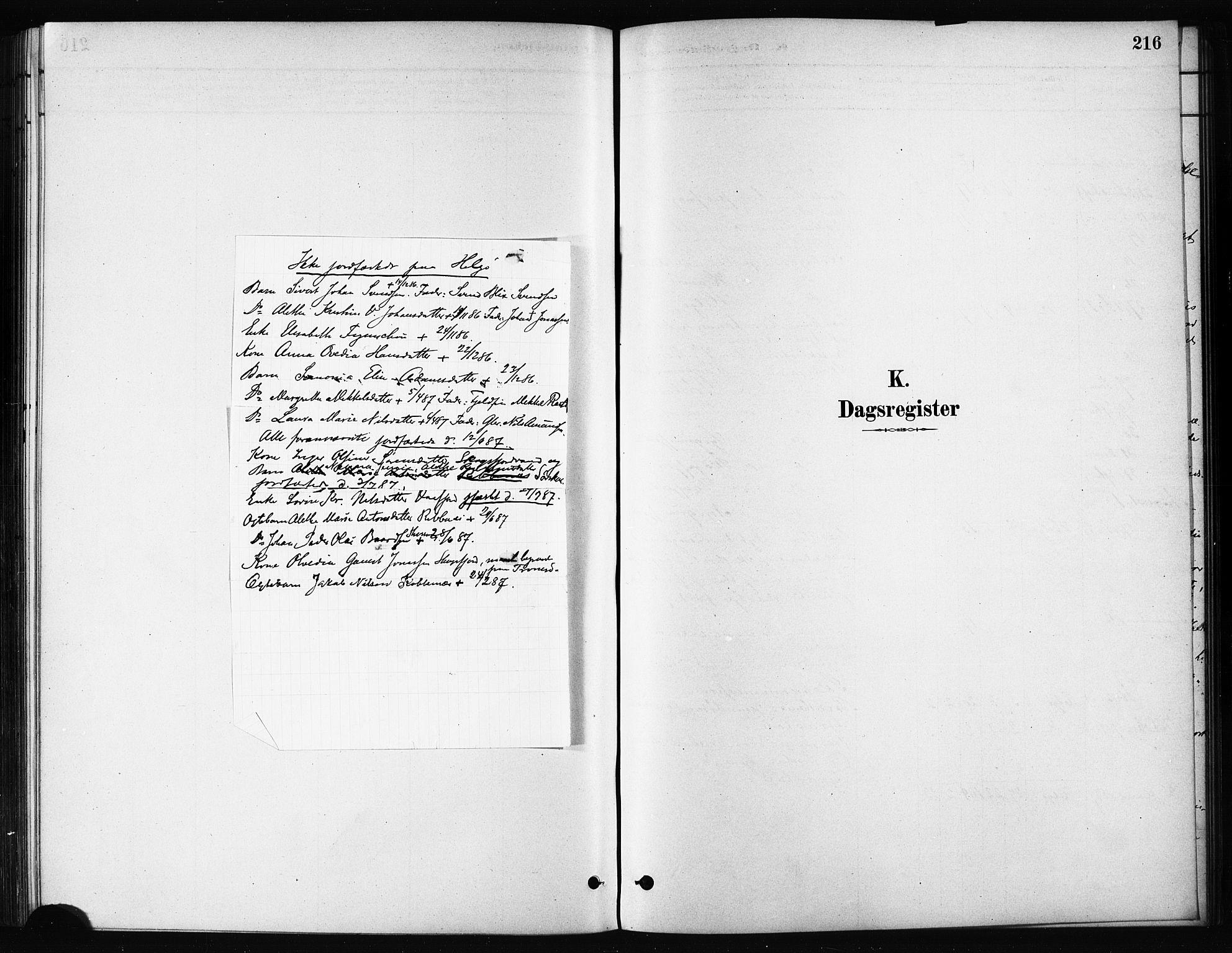 SATØ, Karlsøy sokneprestembete, H/Ha/Haa/L0011kirke: Parish register (official) no. 11, 1879-1892, p. 216