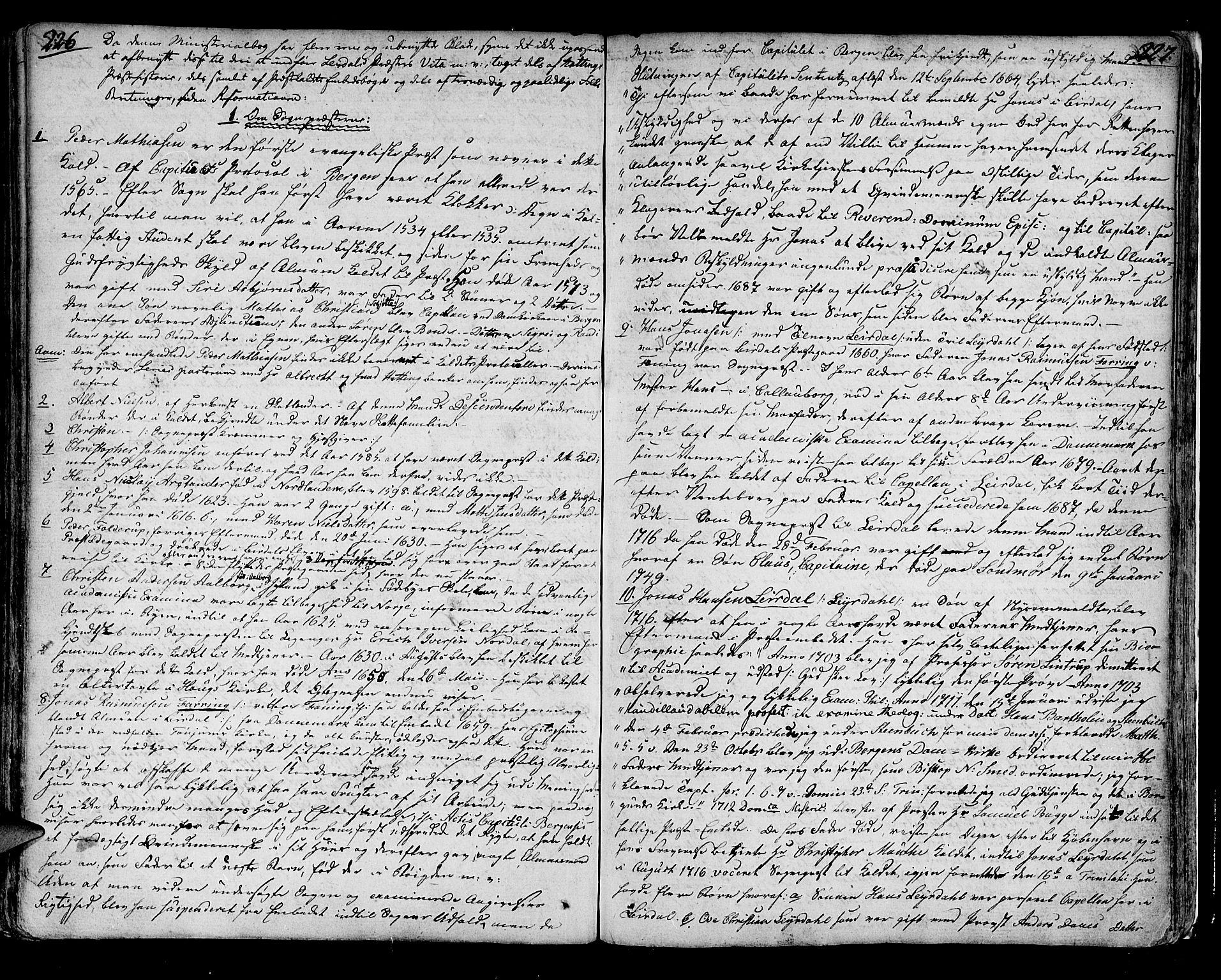 SAB, Lærdal sokneprestembete, Parish register (official) no. A 4, 1805-1821, p. 226-227