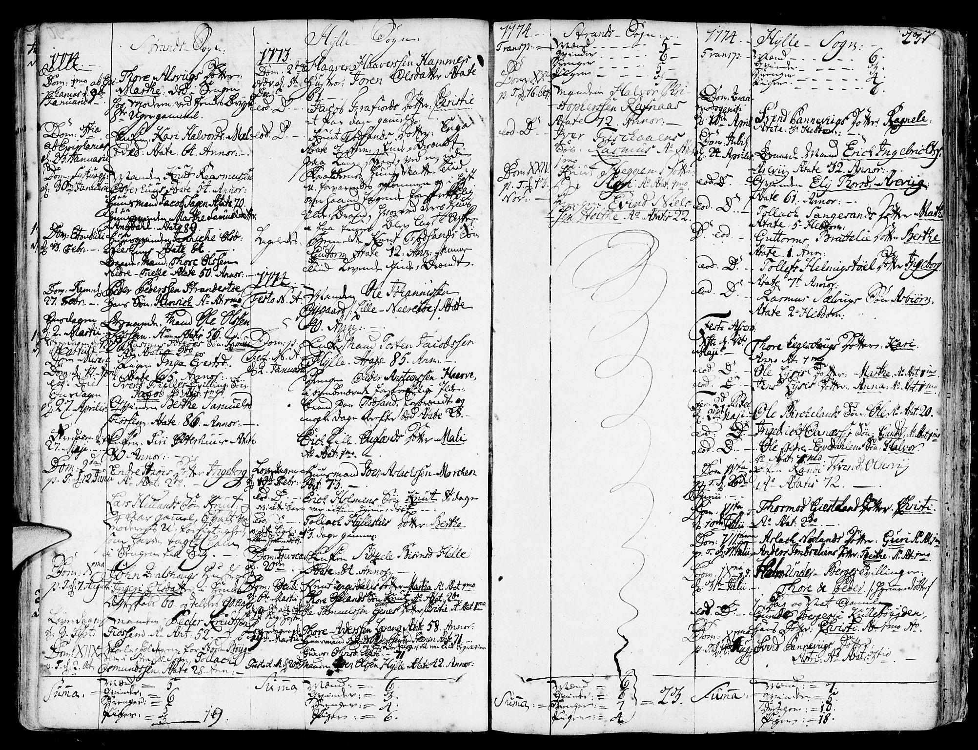 SAST, Strand sokneprestkontor, H/Ha/Haa/L0003: Parish register (official) no. A 3, 1769-1816, p. 231