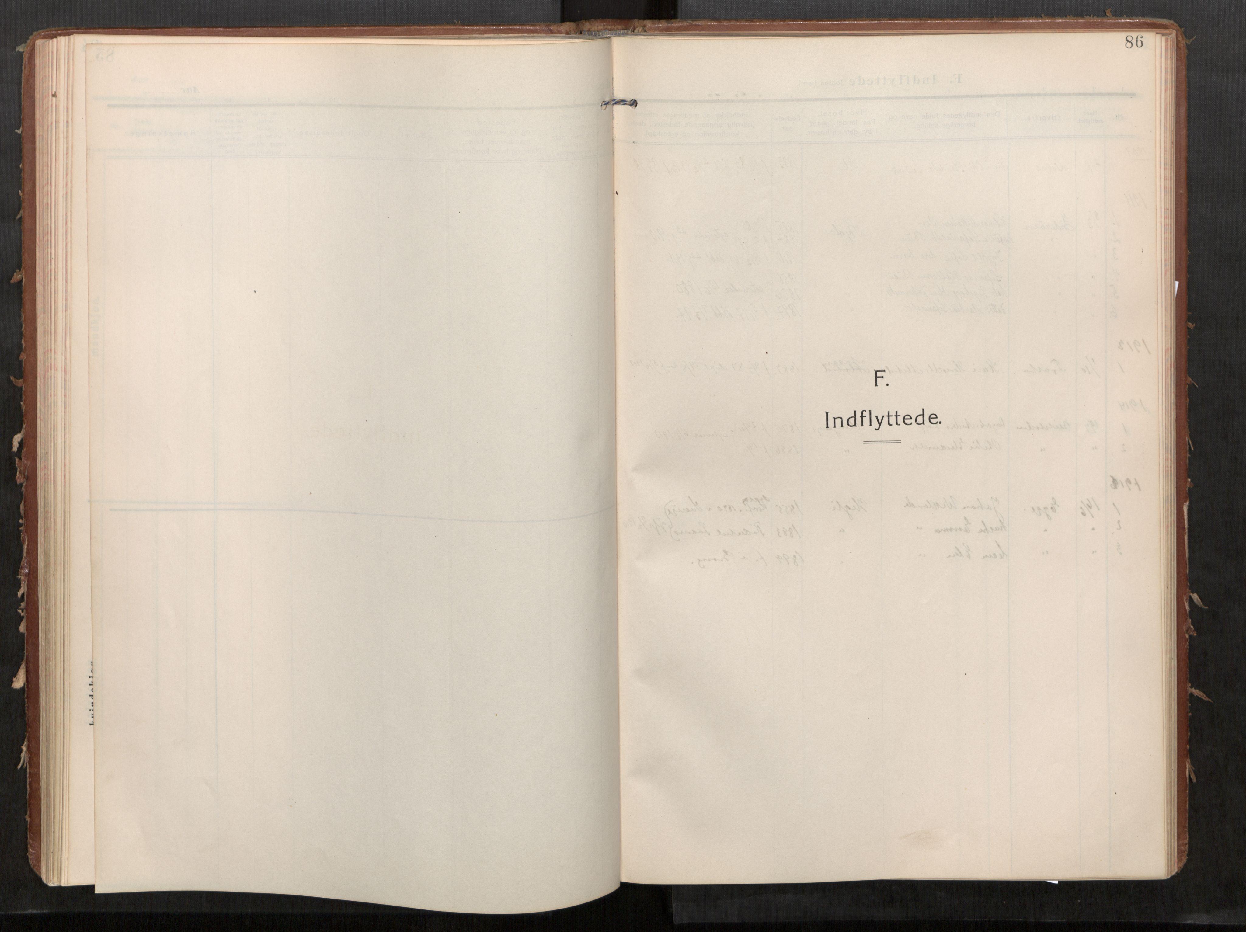 SAT, Stod sokneprestkontor, I/I1/I1a/L0002: Parish register (official) no. 2, 1909-1922, p. 86
