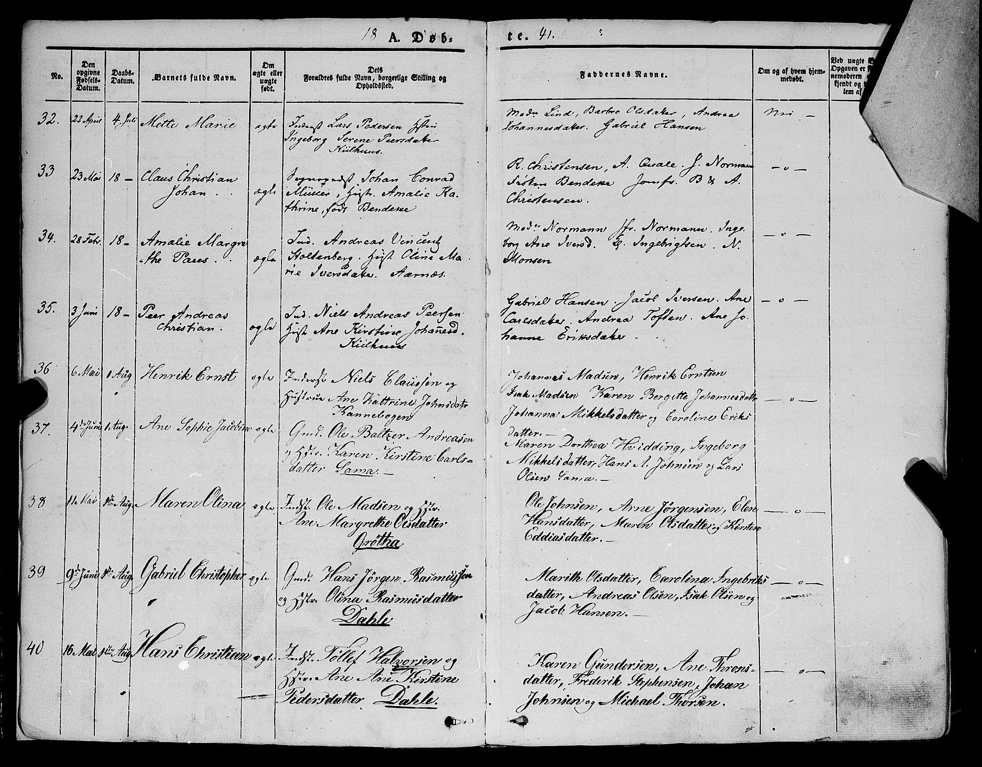 SATØ, Trondenes sokneprestkontor, H/Ha/L0009kirke: Parish register (official) no. 9, 1841-1852, p. 7