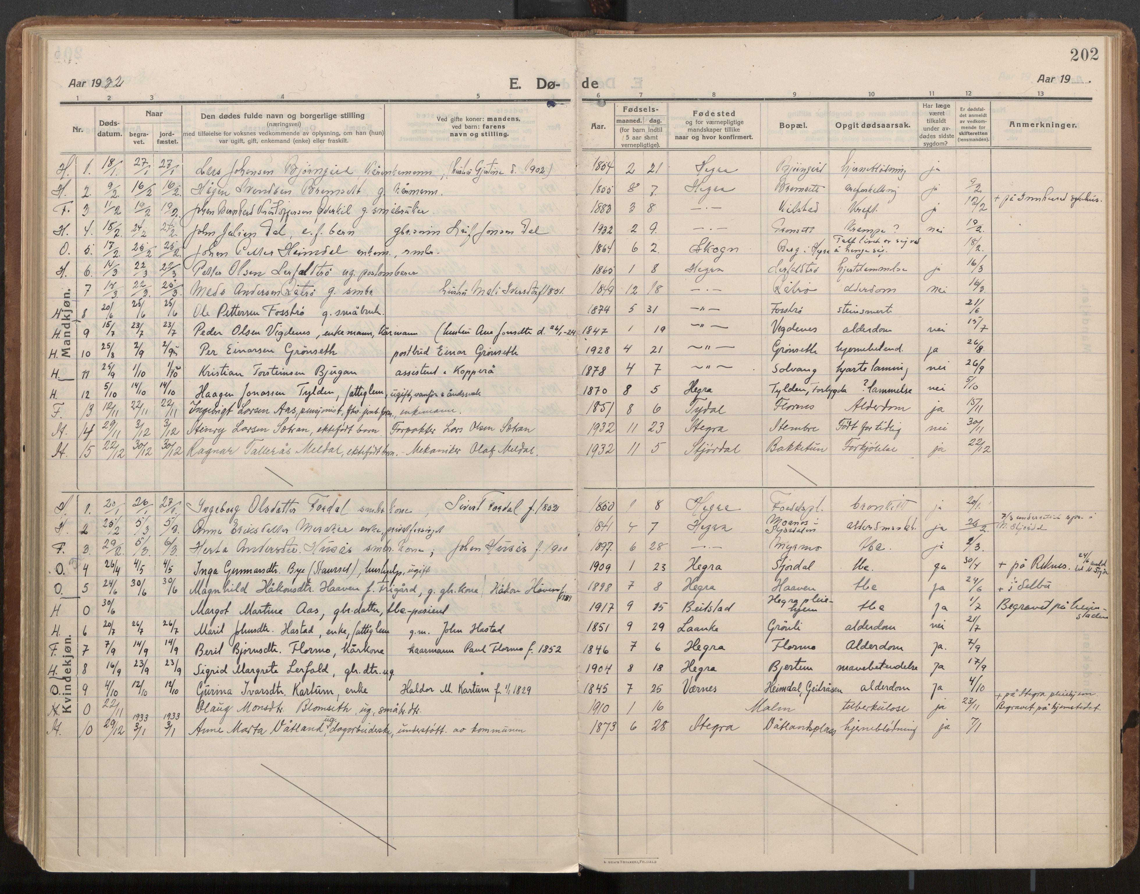 SAT, Ministerialprotokoller, klokkerbøker og fødselsregistre - Nord-Trøndelag, 703/L0037: Parish register (official) no. 703A10, 1915-1932, p. 202