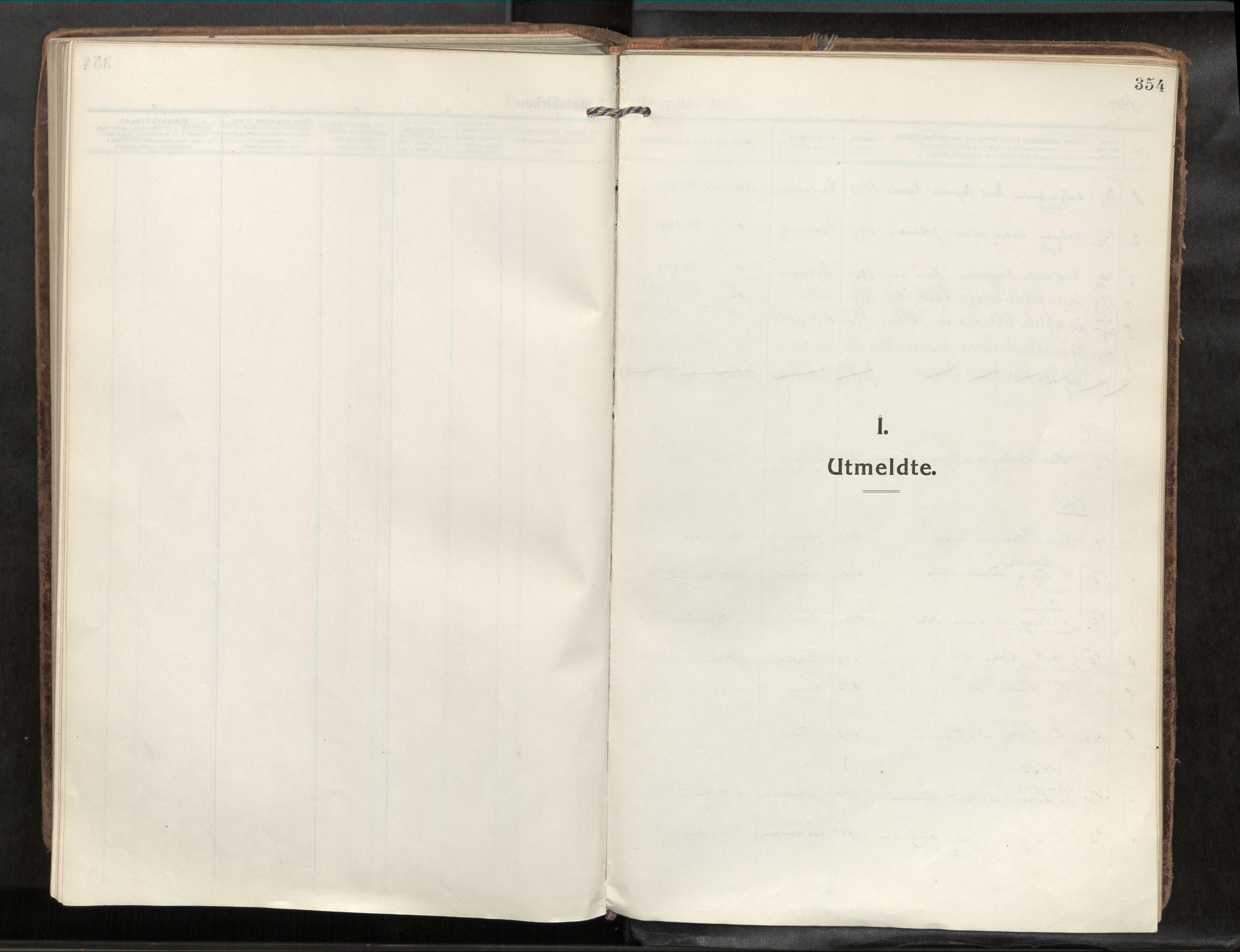 SAT, Verdal sokneprestkontor*, Parish register (official) no. 1, 1917-1932, p. 354