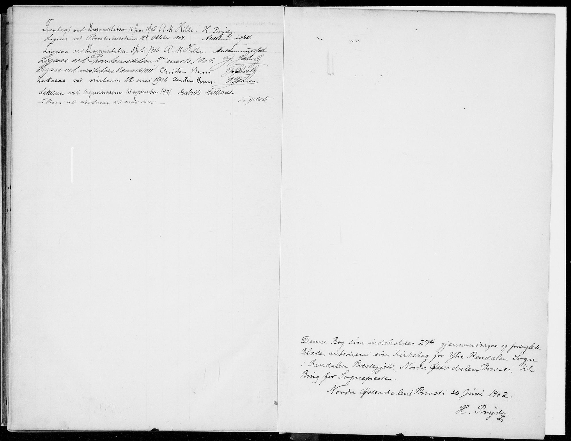 SAH, Rendalen prestekontor, H/Ha/Haa/L0011: Parish register (official) no. 11, 1901-1925
