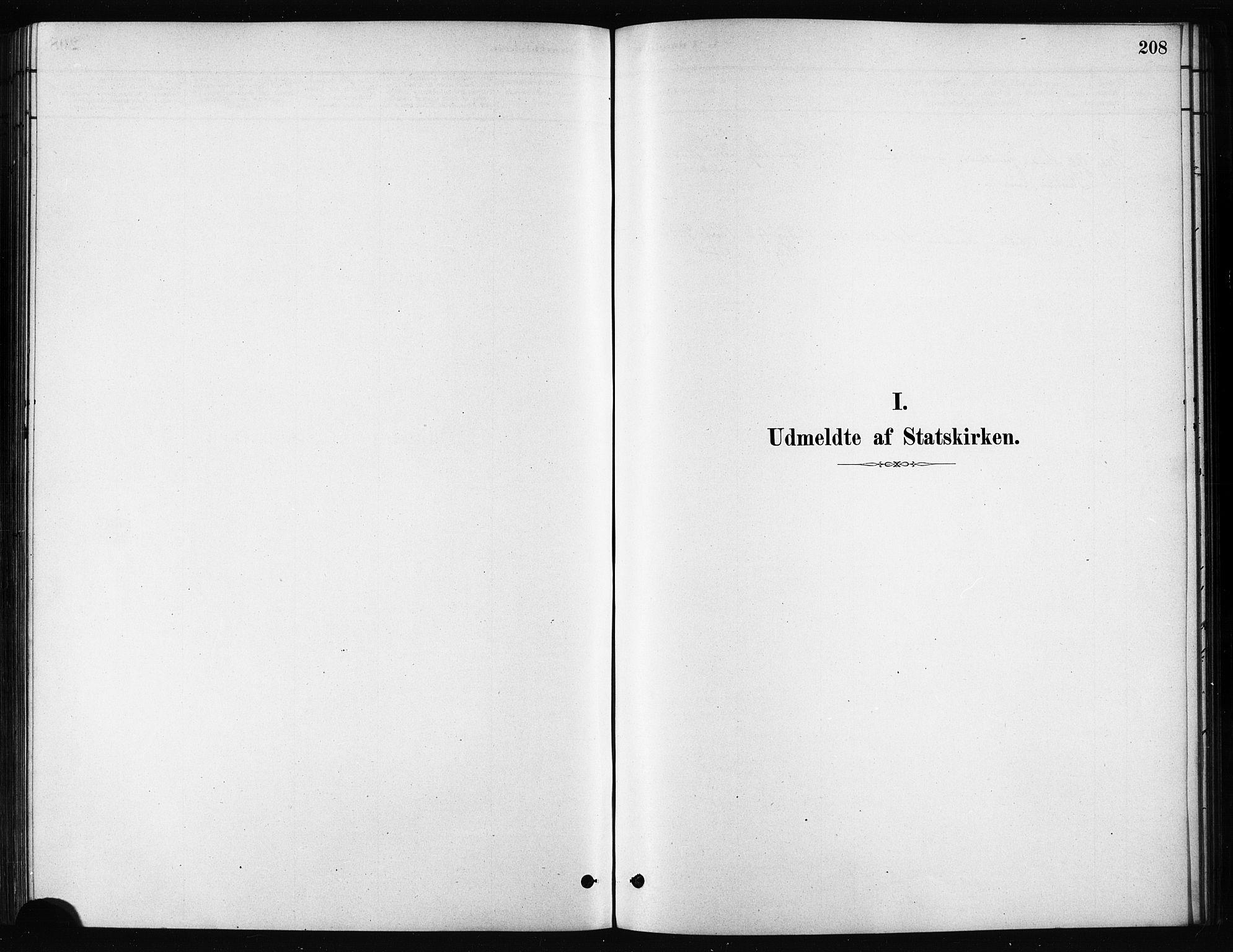 SATØ, Karlsøy sokneprestembete, H/Ha/Haa/L0011kirke: Parish register (official) no. 11, 1879-1892, p. 208
