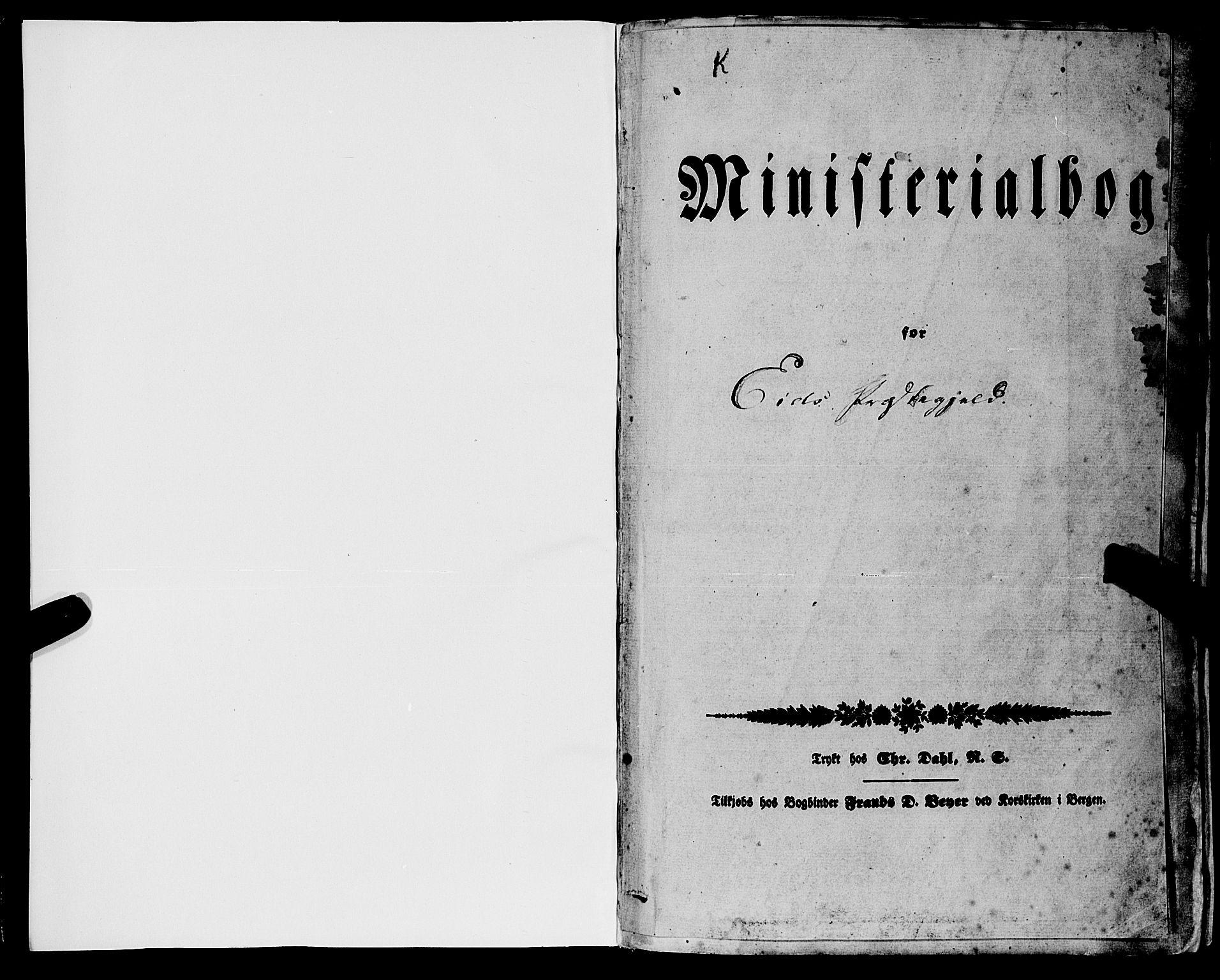 SAB, Eid Sokneprestembete, H/Haa: Parish register (official) no. A 7, 1844-1858, p. 1