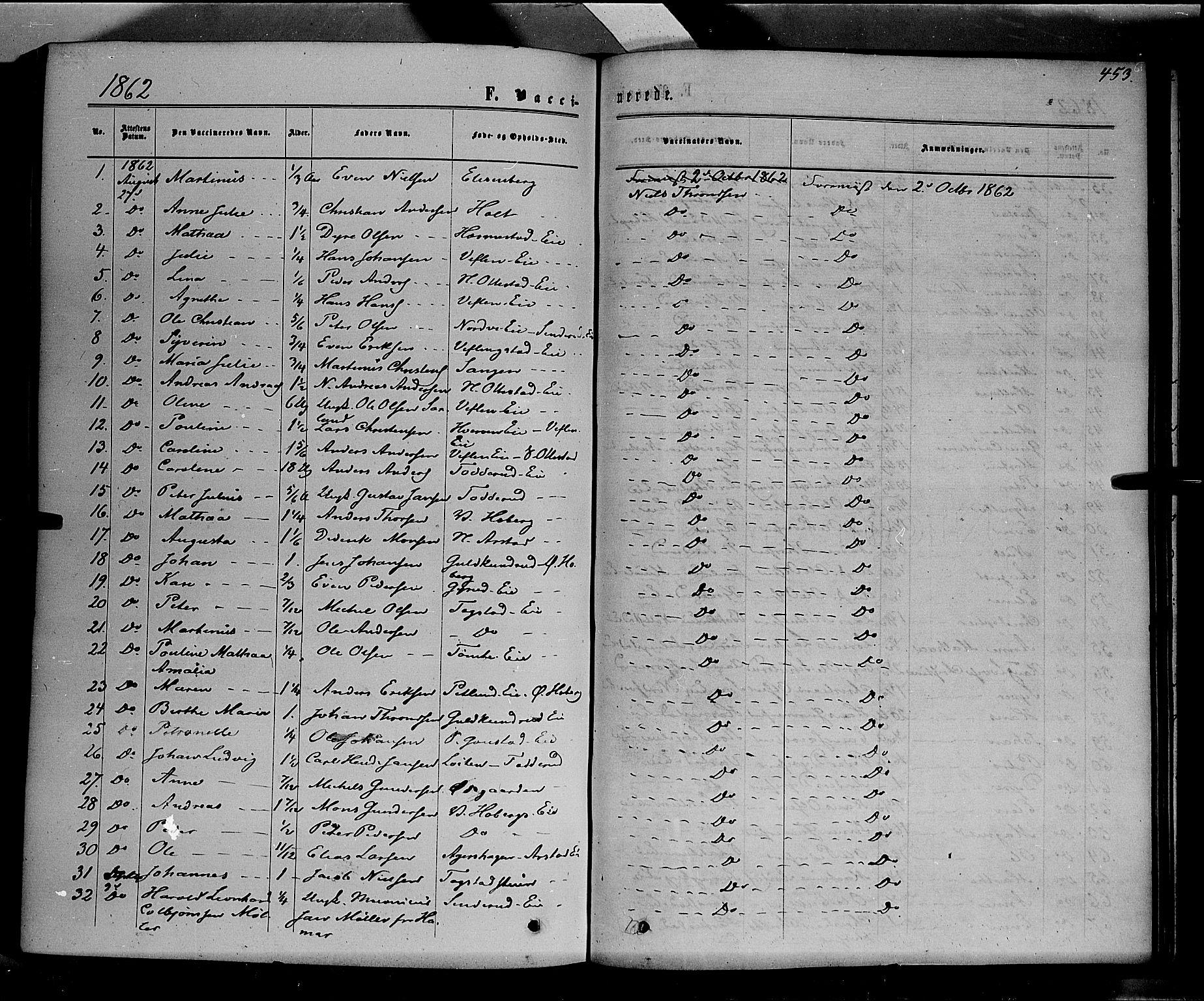 SAH, Stange prestekontor, K/L0013: Parish register (official) no. 13, 1862-1879, p. 453