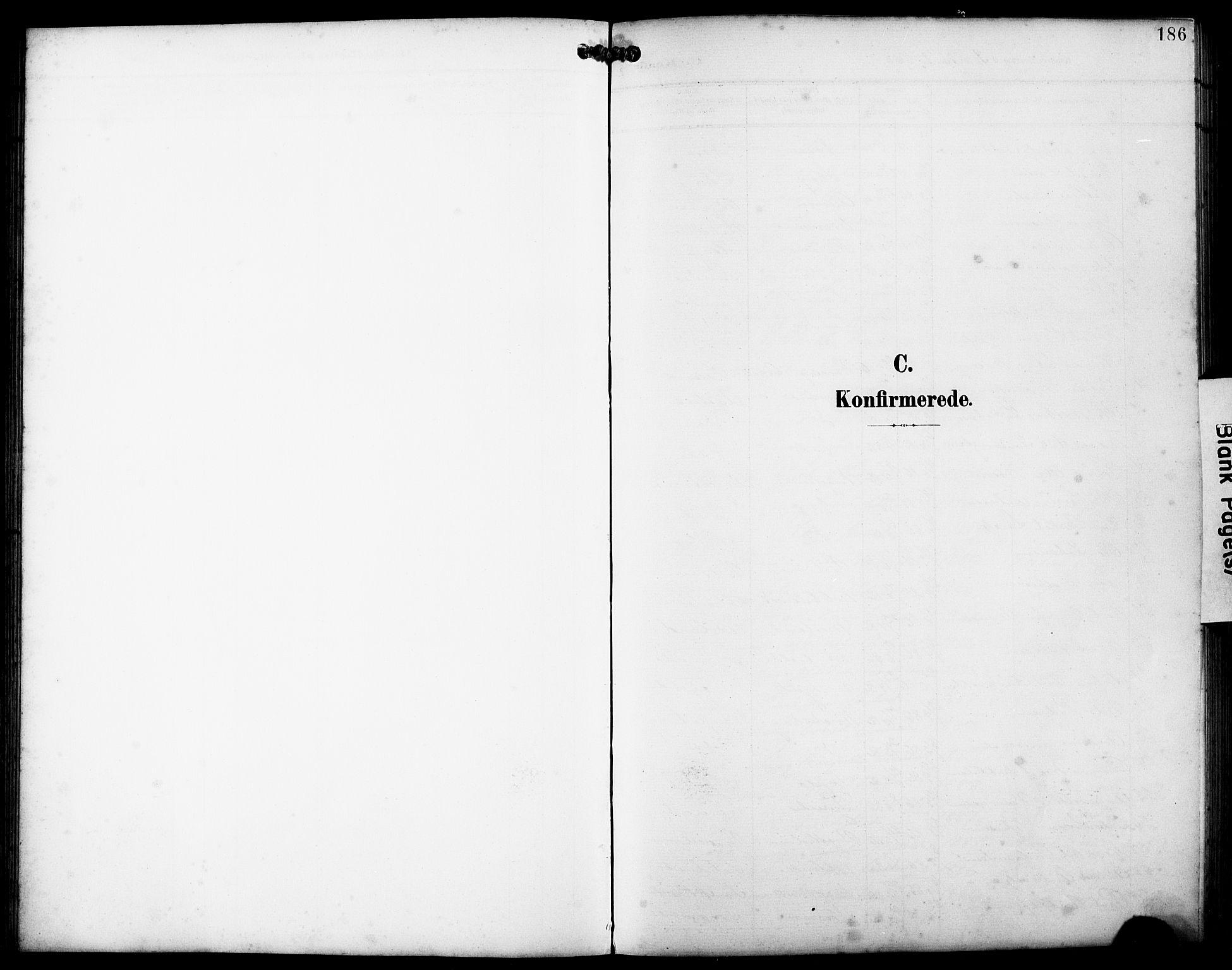 SAB, Fjell sokneprestembete, H/Hab: Parish register (copy) no. A 5, 1899-1918, p. 186