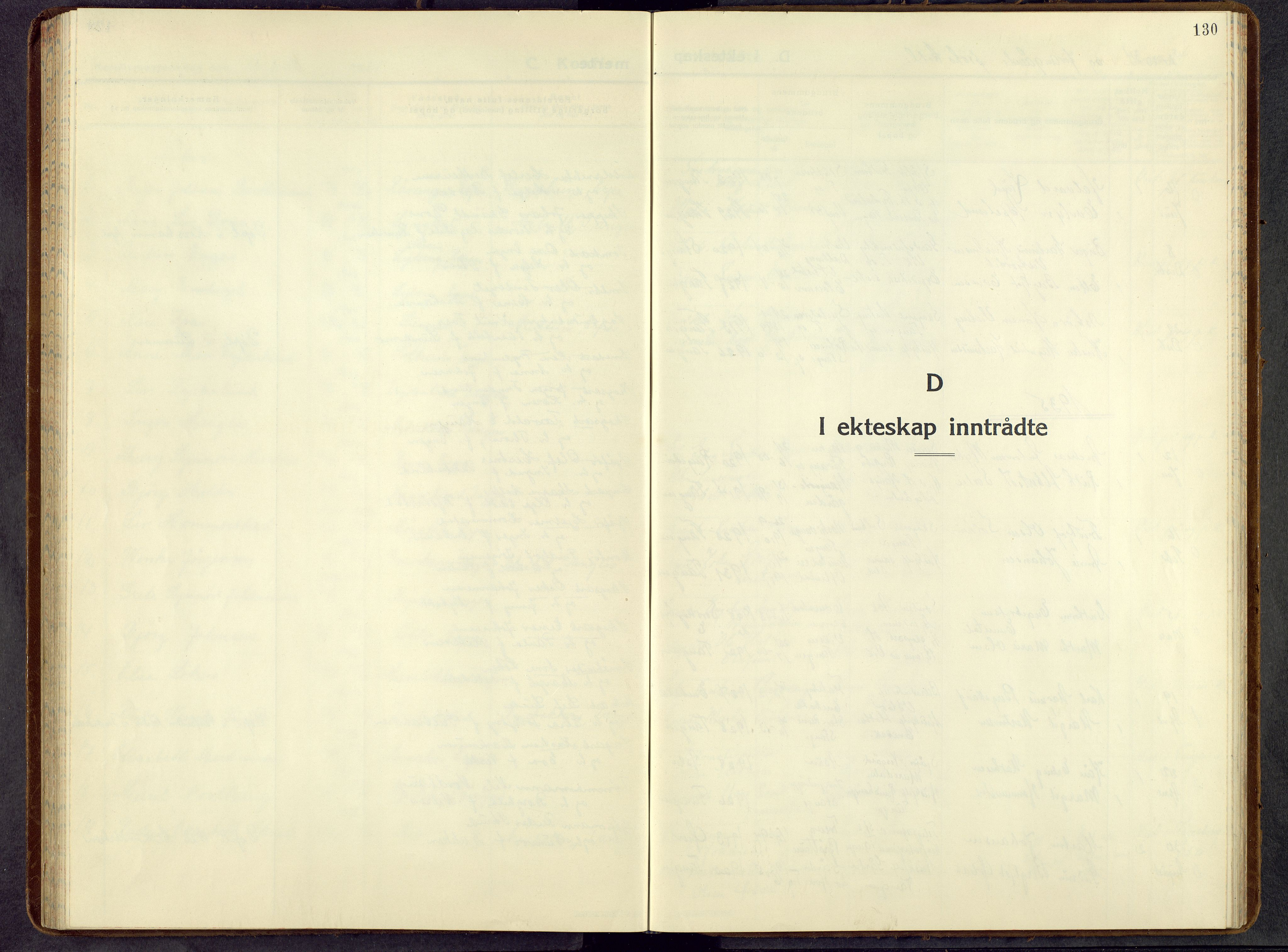 SAH, Stange prestekontor, L/L0021: Parish register (copy) no. 21, 1937-1962, p. 130
