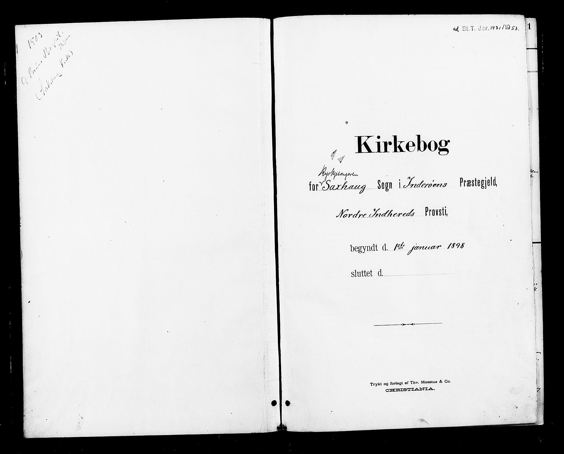SAT, Ministerialprotokoller, klokkerbøker og fødselsregistre - Nord-Trøndelag, 730/L0302: Parish register (copy) no. 730C05, 1898-1924