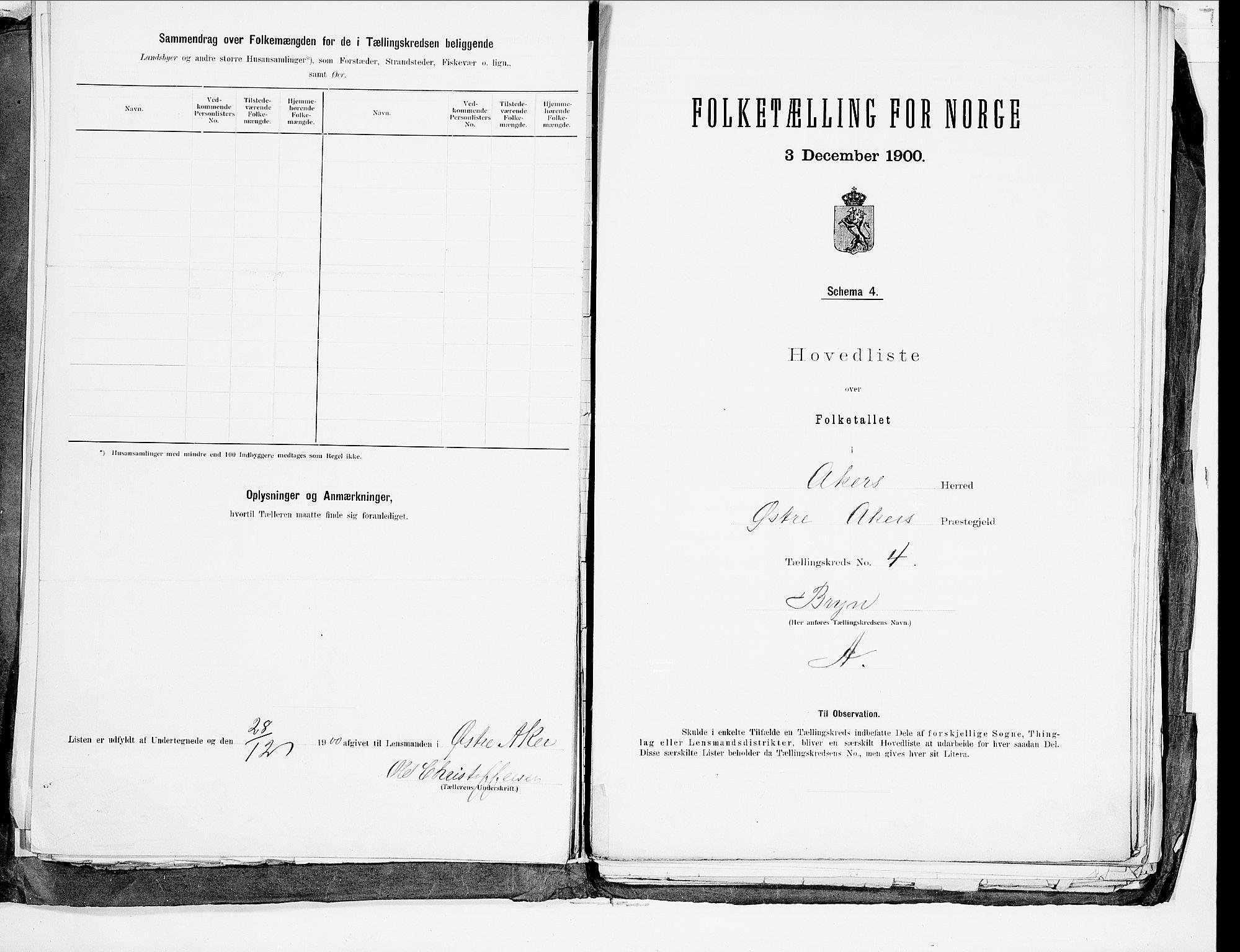 SAO, 1900 census for Aker, 1900, p. 17