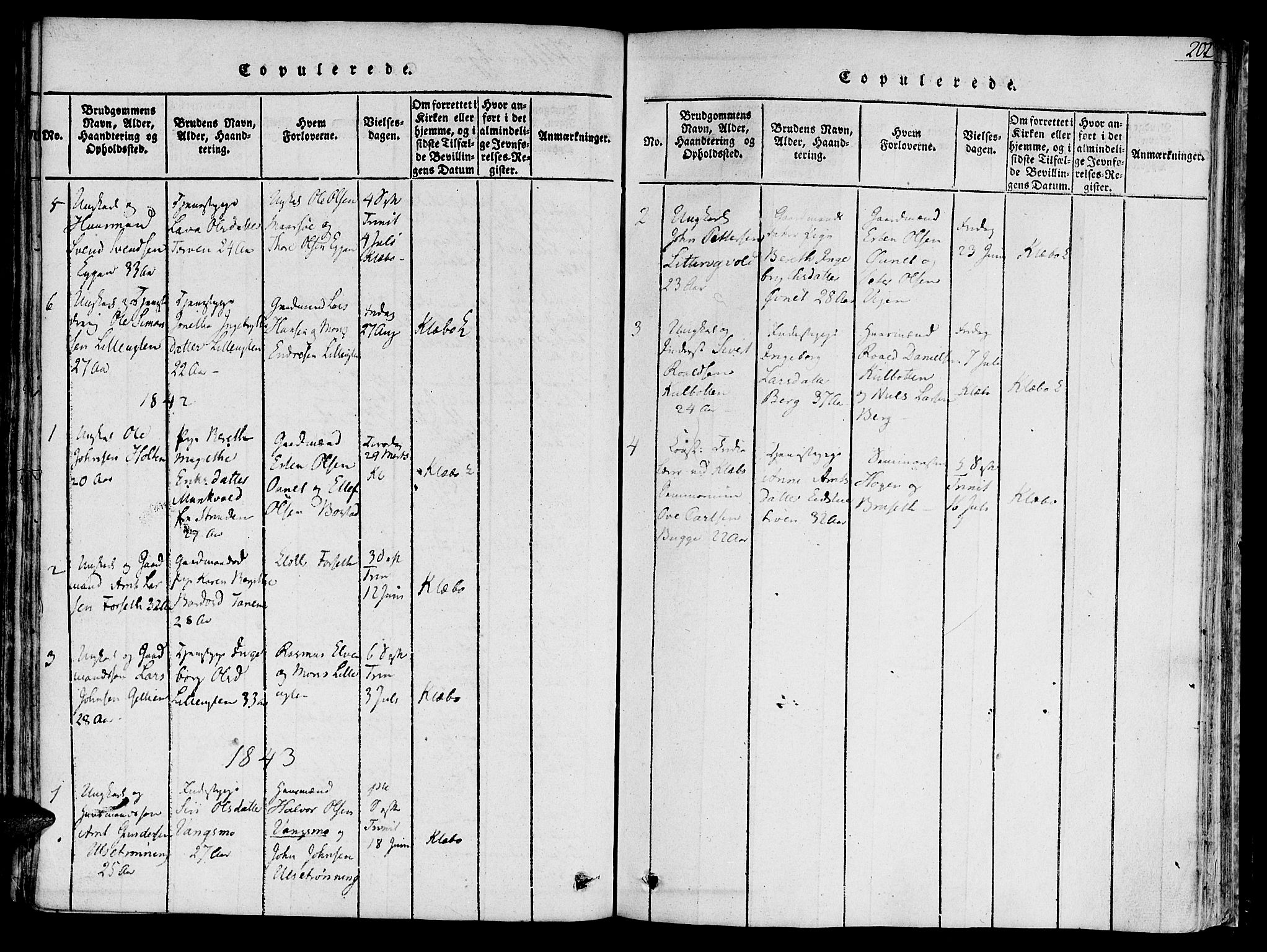 SAT, Ministerialprotokoller, klokkerbøker og fødselsregistre - Sør-Trøndelag, 618/L0439: Parish register (official) no. 618A04 /1, 1816-1843, p. 202