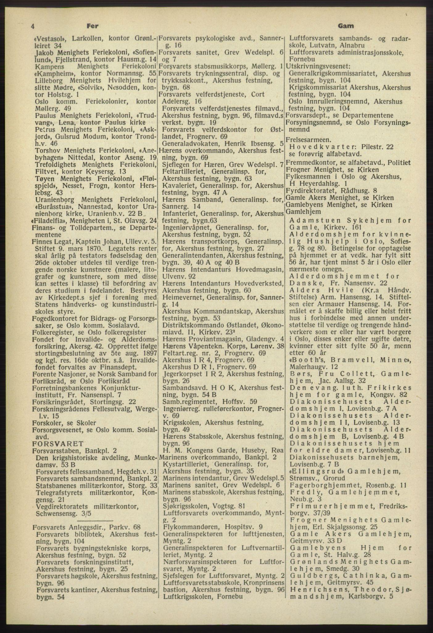 PUBL, Kristiania/Oslo adressebok, 1960-1961, p. 4
