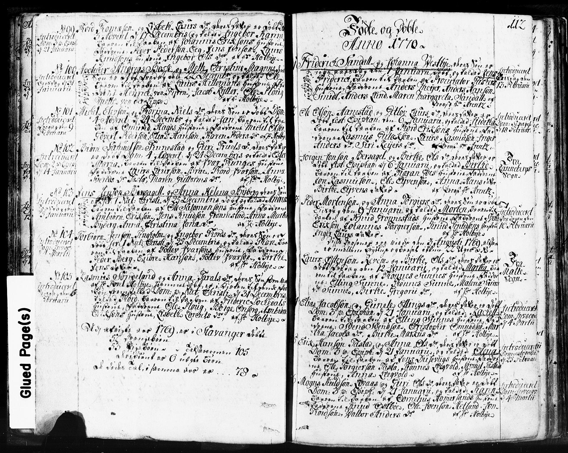 SAST, Domkirken sokneprestkontor, 30/30BB/L0004: Parish register (copy) no. B 4, 1752-1790, p. 112