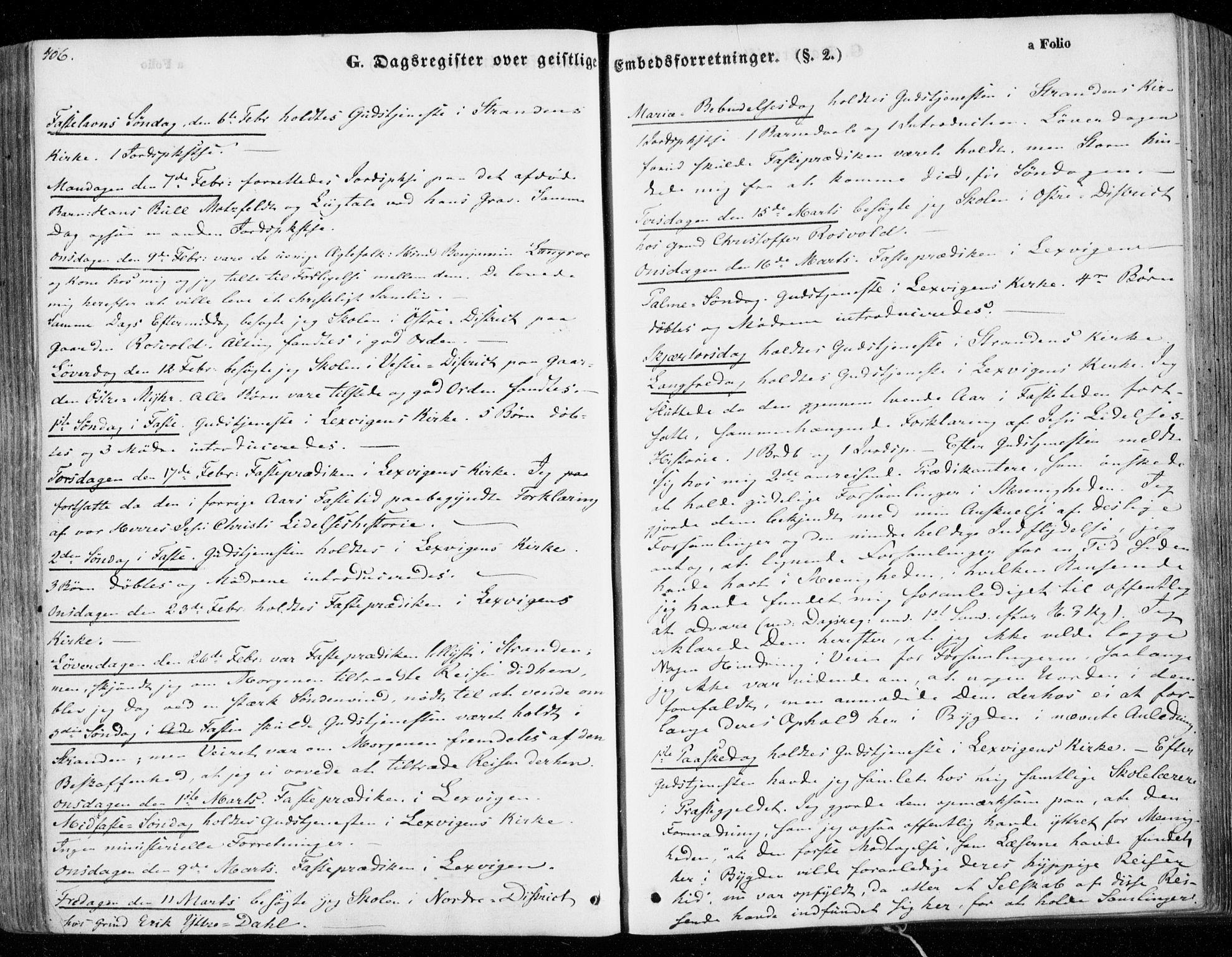SAT, Ministerialprotokoller, klokkerbøker og fødselsregistre - Nord-Trøndelag, 701/L0007: Parish register (official) no. 701A07 /1, 1842-1854, p. 406