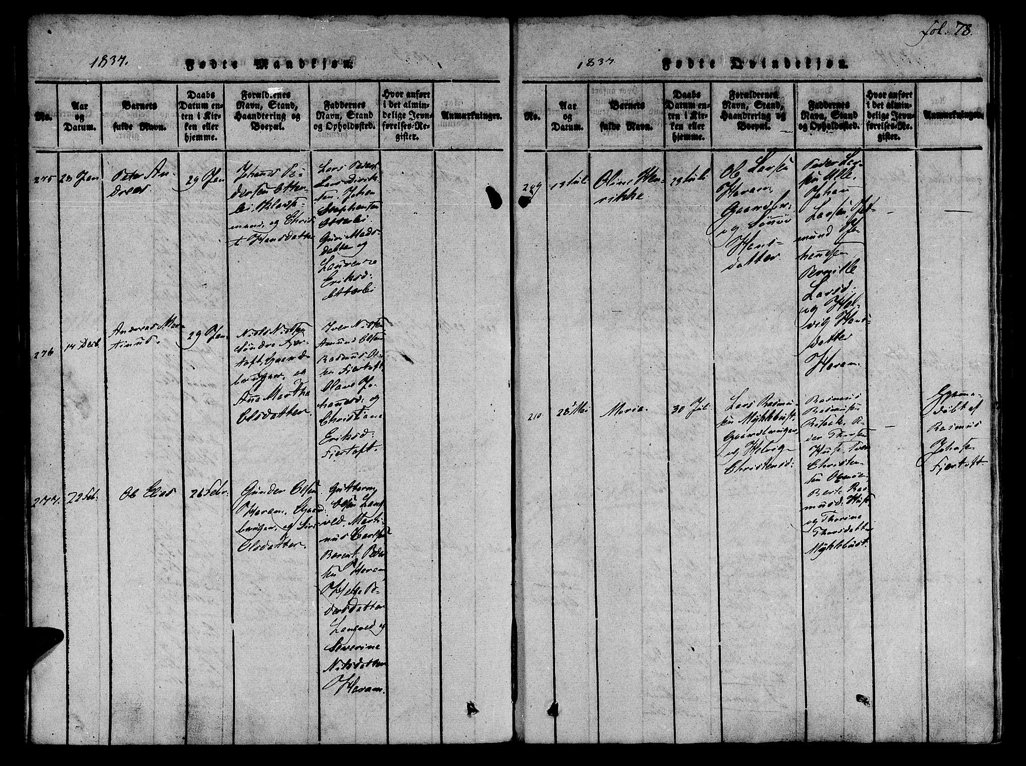 SAT, Ministerialprotokoller, klokkerbøker og fødselsregistre - Møre og Romsdal, 536/L0495: Parish register (official) no. 536A04, 1818-1847, p. 78