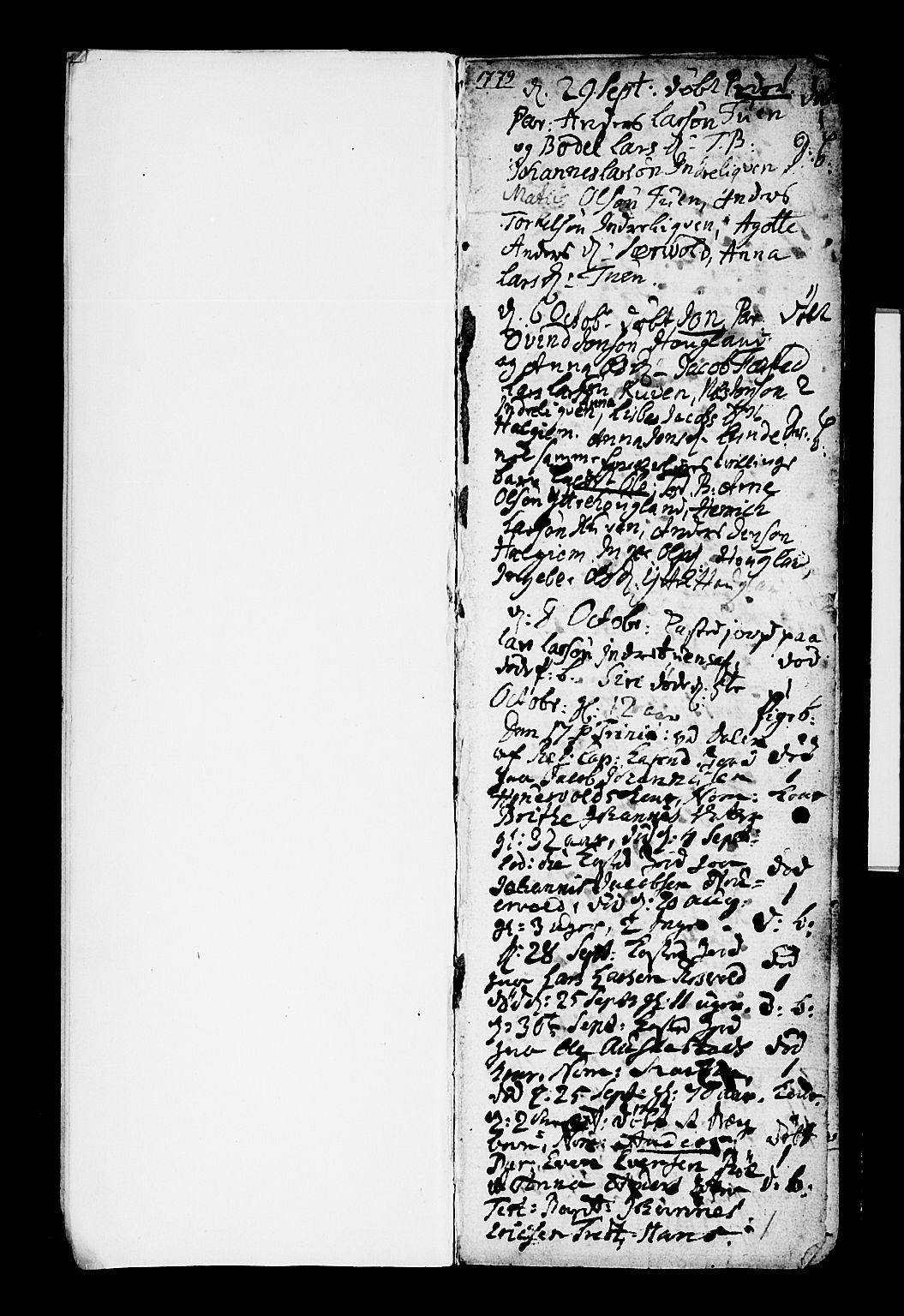 SAB, Os sokneprestembete*, Parish register (official) no. A 10, 1779-1788, p. 1
