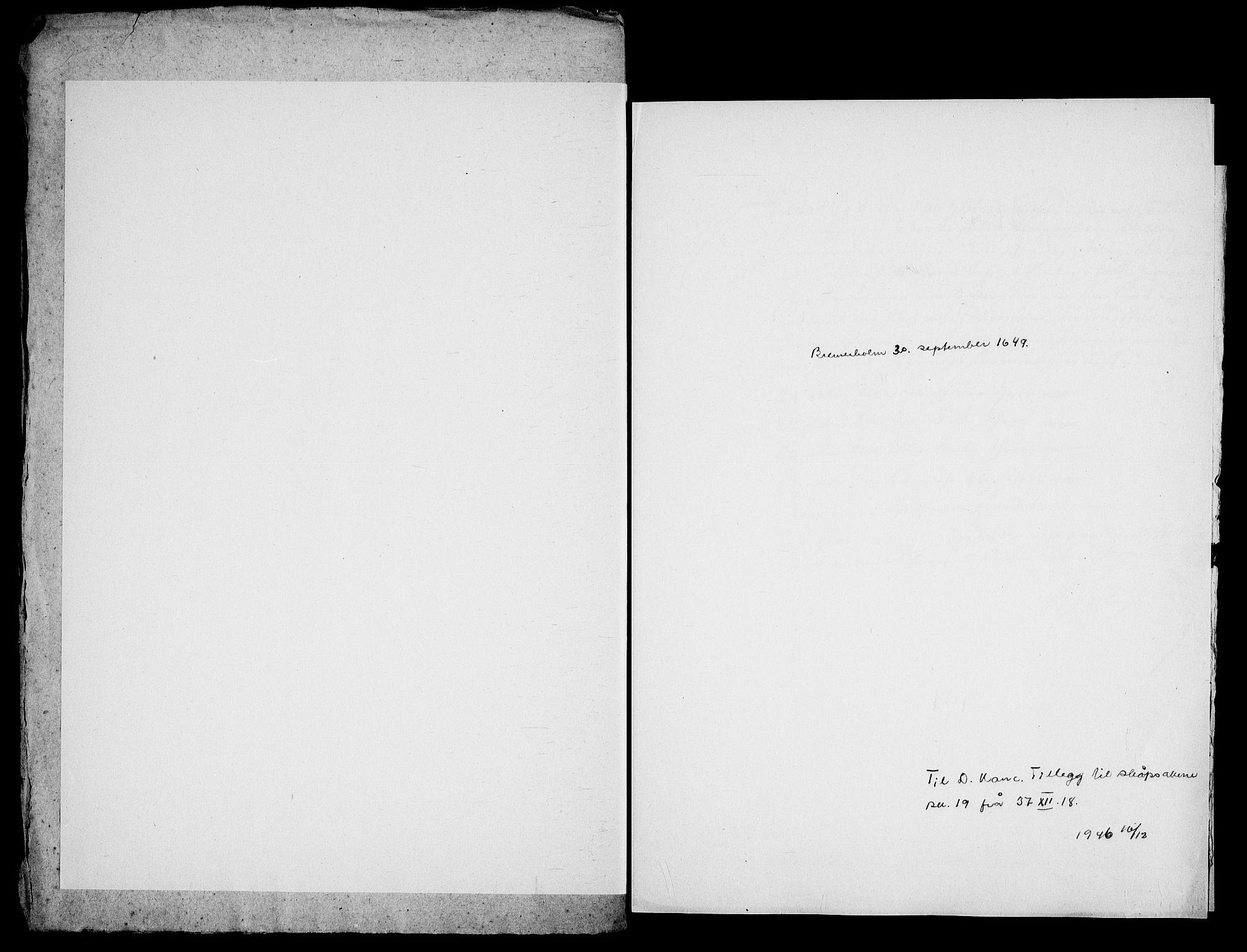 RA, Danske Kanselli, Skapsaker, G/L0019: Tillegg til skapsakene, 1616-1753, p. 135