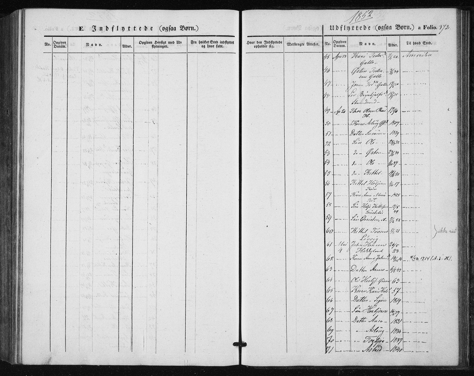 SAKO, Tinn kirkebøker, F/Fa/L0005: Parish register (official) no. I 5, 1844-1856, p. 372