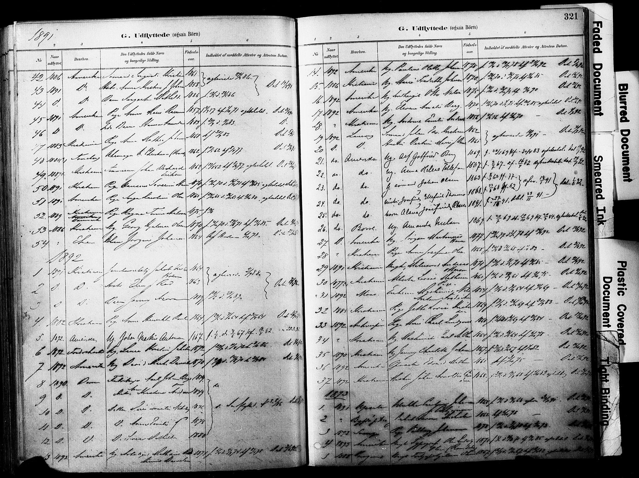 SAKO, Horten kirkebøker, F/Fa/L0004: Parish register (official) no. 4, 1888-1895, p. 321