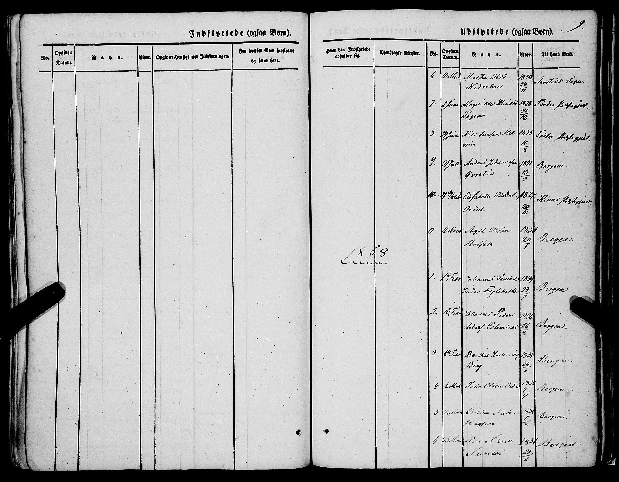 SAB, Jølster sokneprestembete, H/Haa/Haaa/L0010: Parish register (official) no. A 10, 1847-1865, p. 9