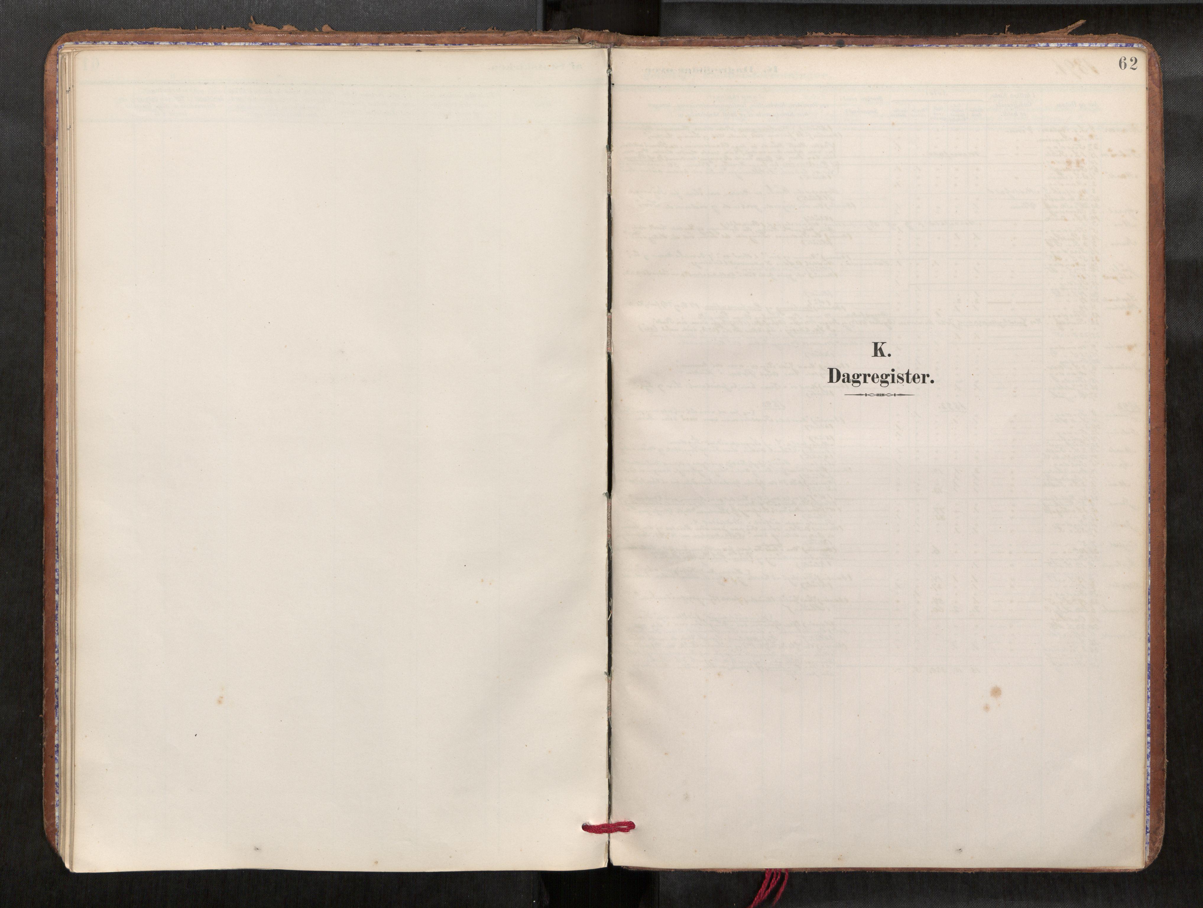 SAT, Verdal sokneprestkontor*, Parish register (official) no. 1, 1891-1907, p. 62