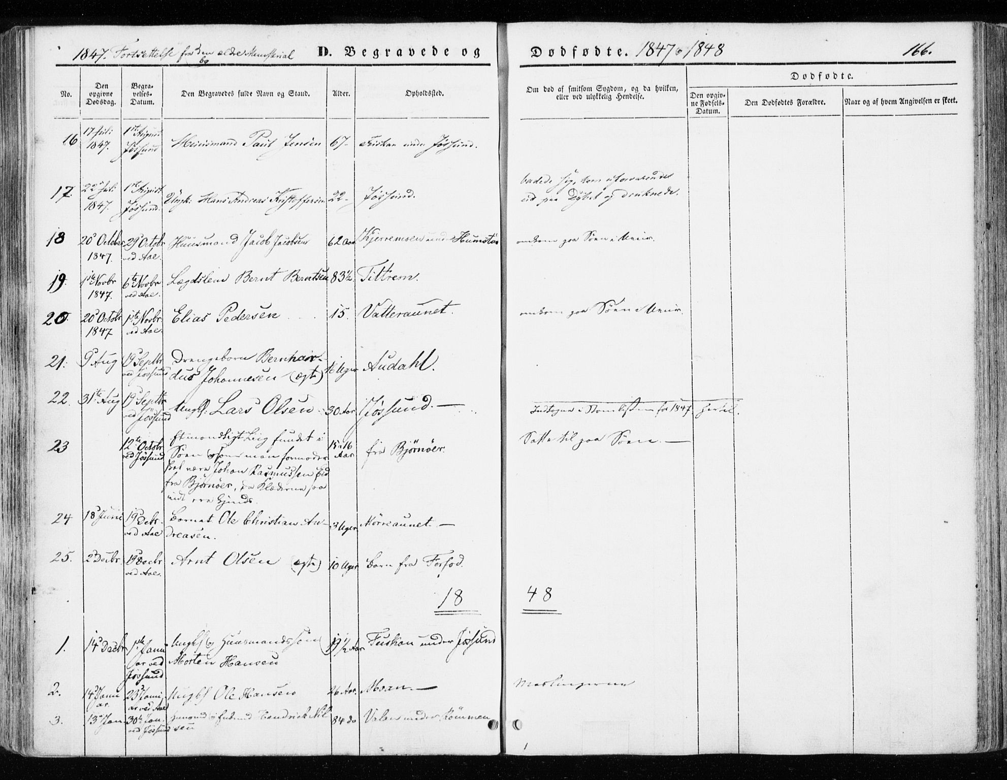 SAT, Ministerialprotokoller, klokkerbøker og fødselsregistre - Sør-Trøndelag, 655/L0677: Parish register (official) no. 655A06, 1847-1860, p. 166