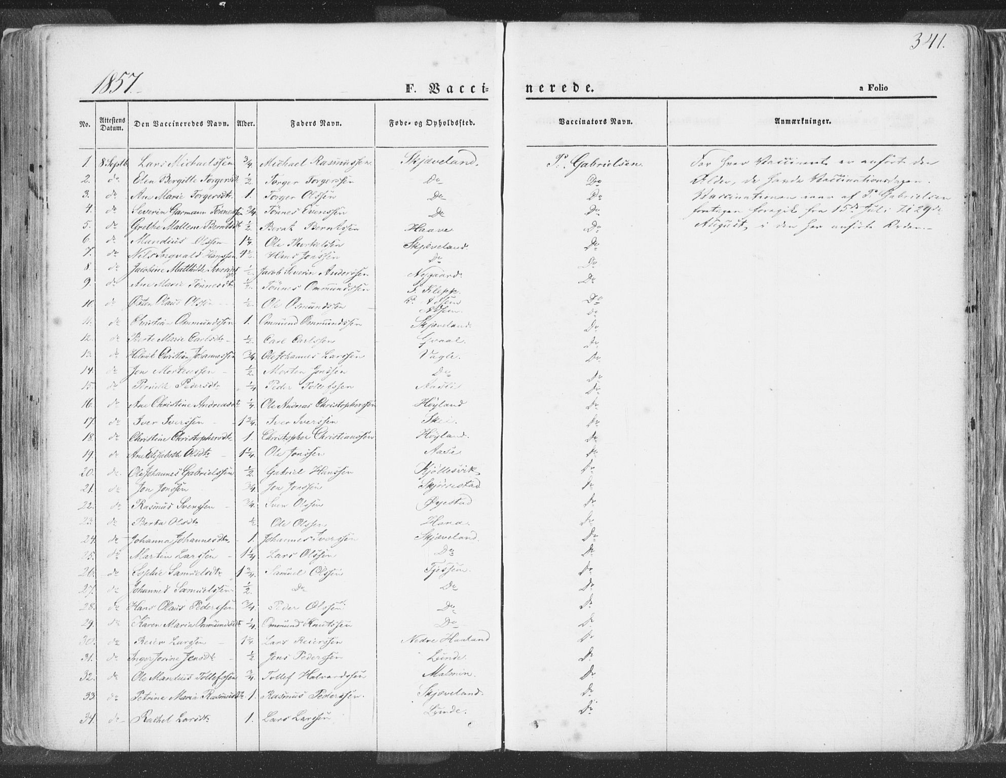 SAST, Høyland sokneprestkontor, 30BA/L0009: Parish register (official) no. A 9.2, 1857-1877, p. 341