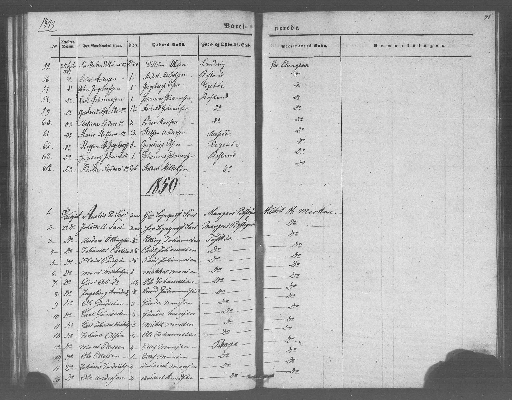 SAB, Manger sokneprestembete, H/Haa: Parish register (official) no. A 10, 1844-1859, p. 38
