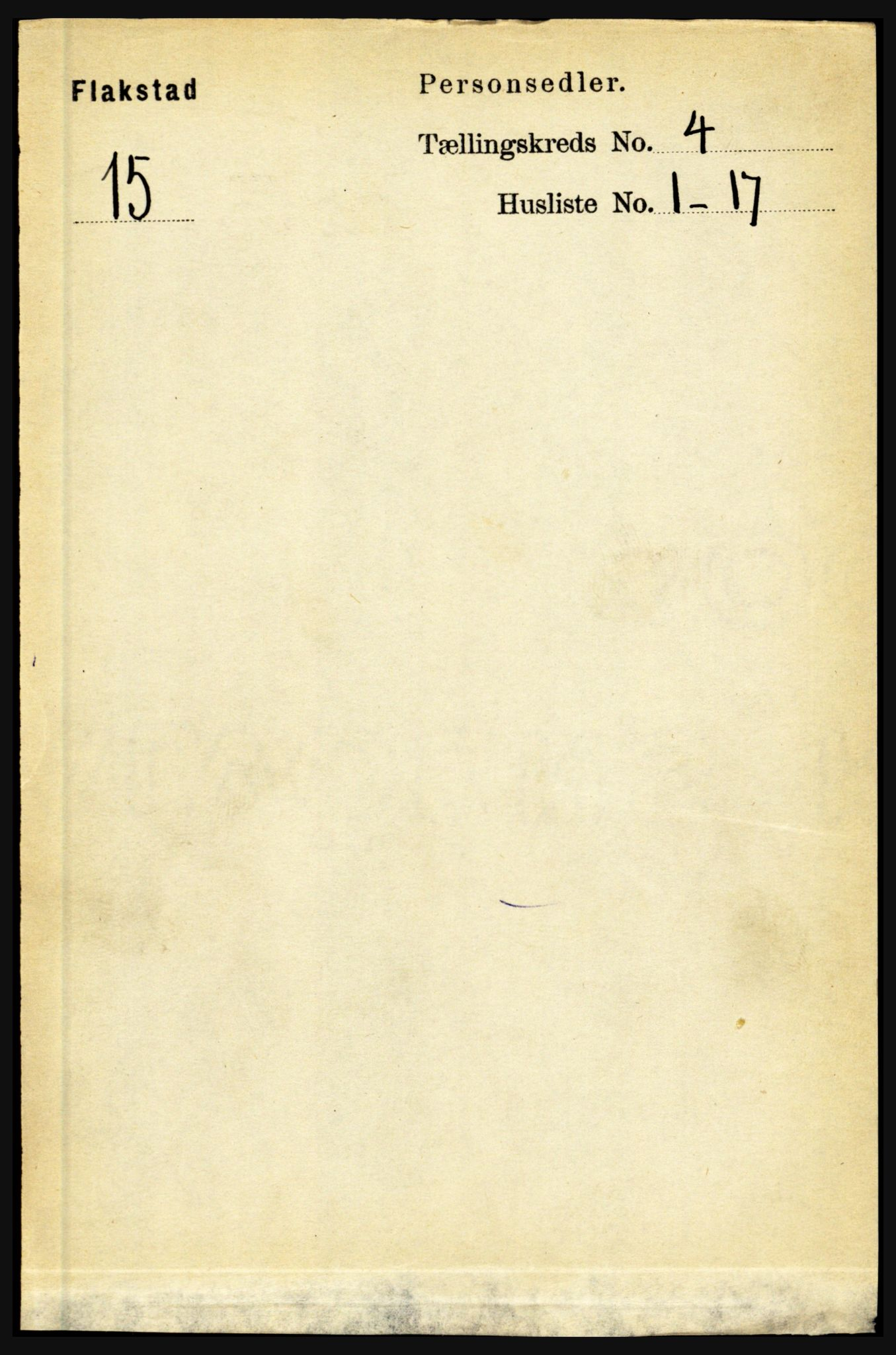 RA, 1891 census for 1859 Flakstad, 1891, p. 1860