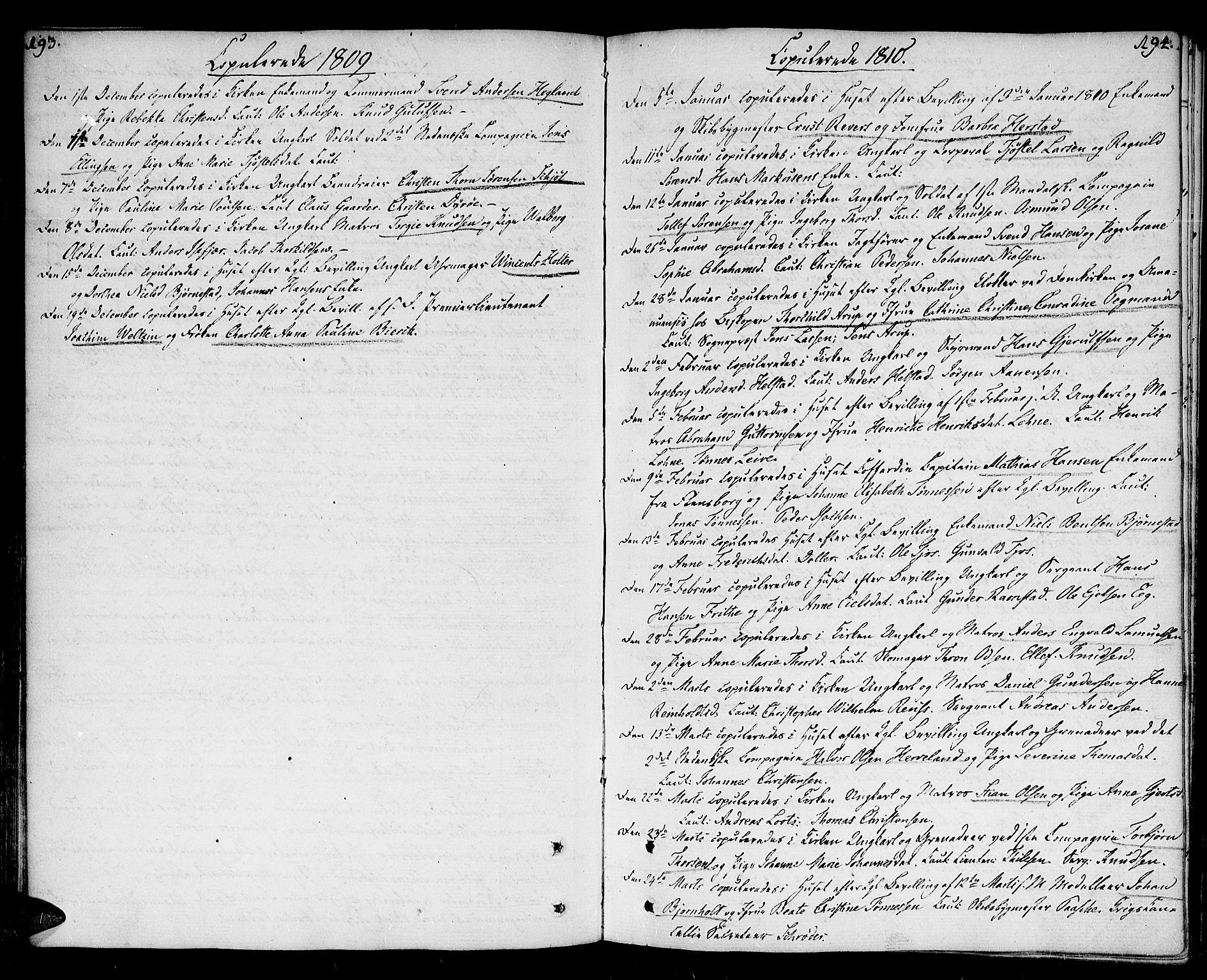 SAK, Kristiansand domprosti, F/Fa/L0005: Parish register (official) no. A 5, 1776-1818, p. 193-194