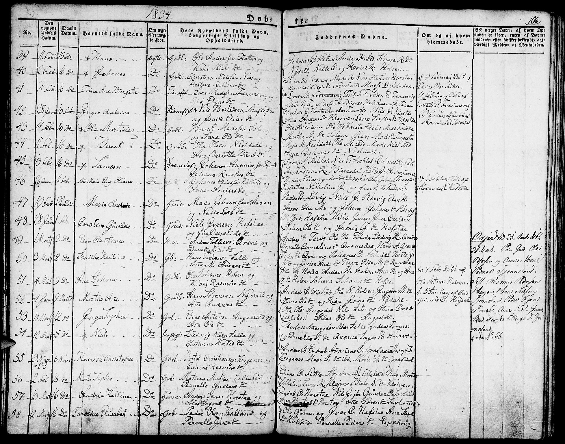 SAB, Førde Sokneprestembete, H/Haa: Parish register (official) no. A 6, 1821-1842, p. 106