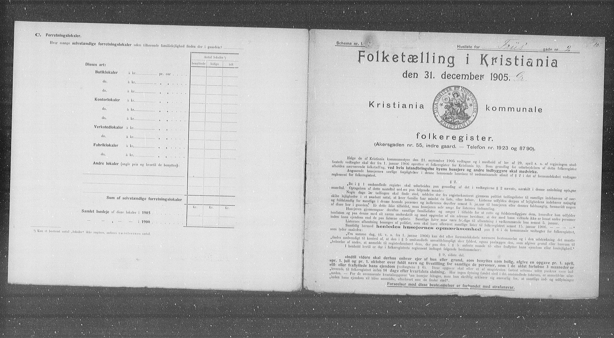 OBA, Municipal Census 1905 for Kristiania, 1905, p. 13842