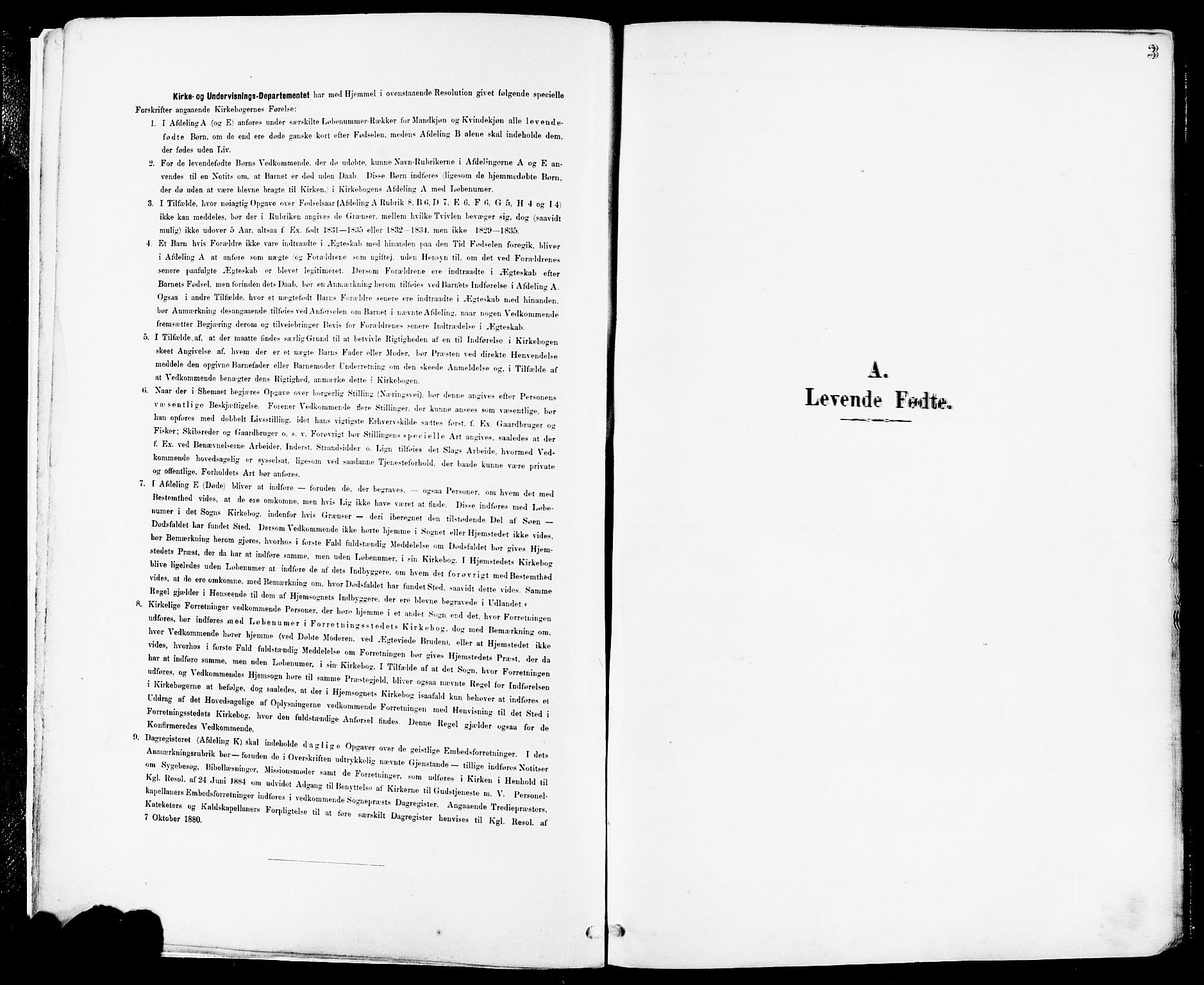 SAST, Høyland sokneprestkontor, 30BA/L0014: Parish register (official) no. A 12, 1890-1898, p. 3