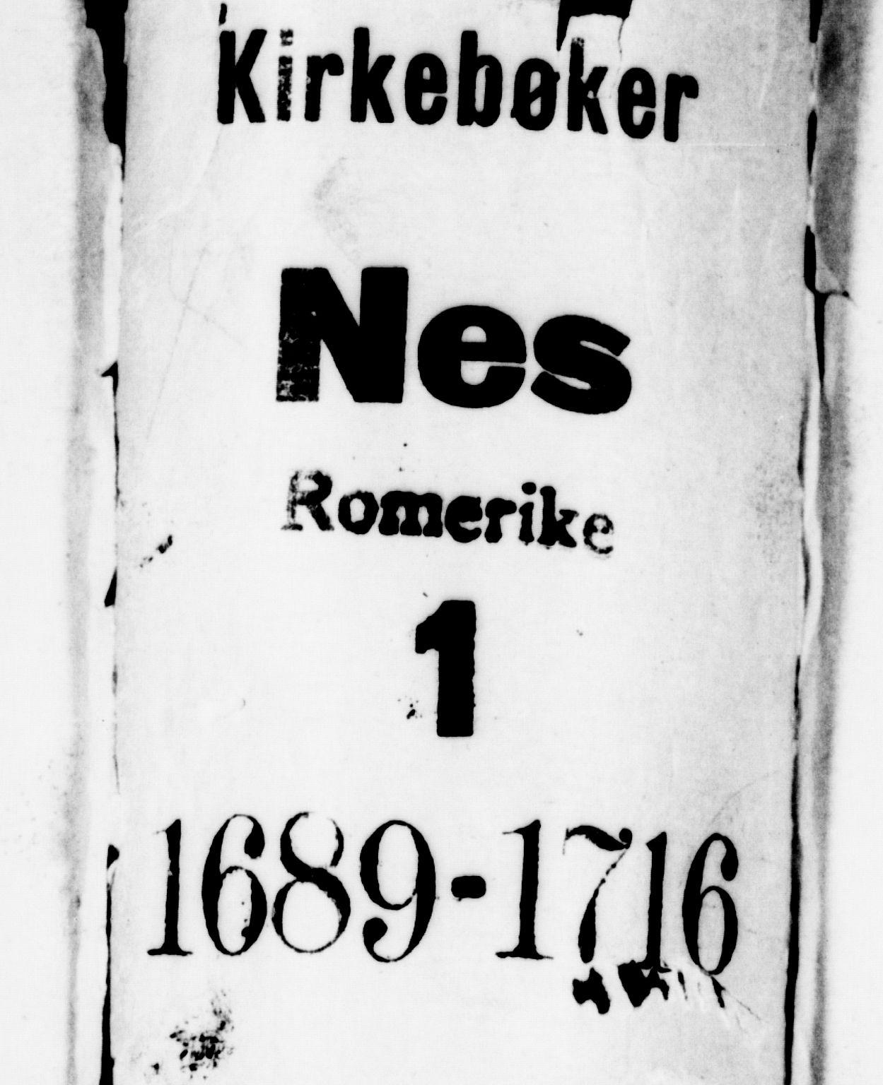 SAO, Nes prestekontor Kirkebøker, F/Fa/L0001: Parish register (official) no. I 1, 1689-1716