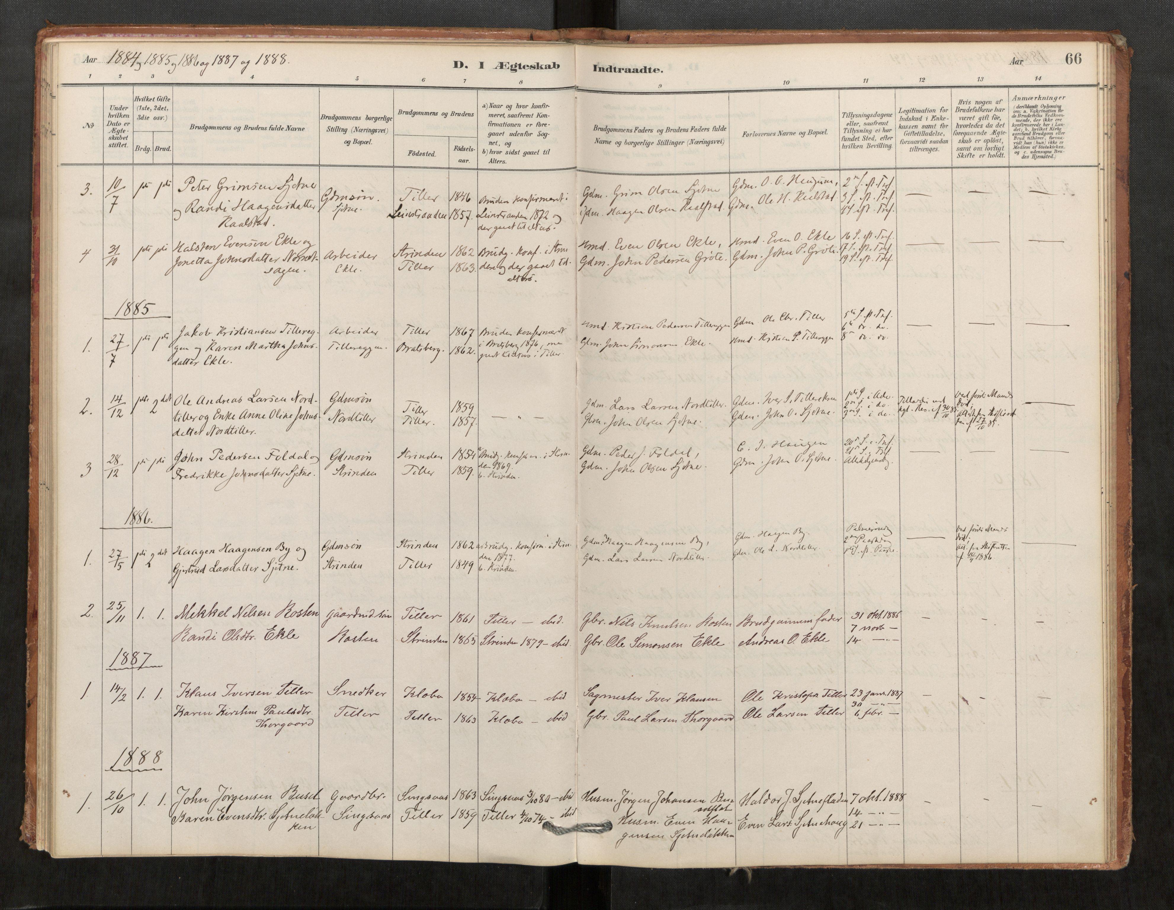 SAT, Klæbu sokneprestkontor, Parish register (official) no. 1, 1880-1900, p. 66