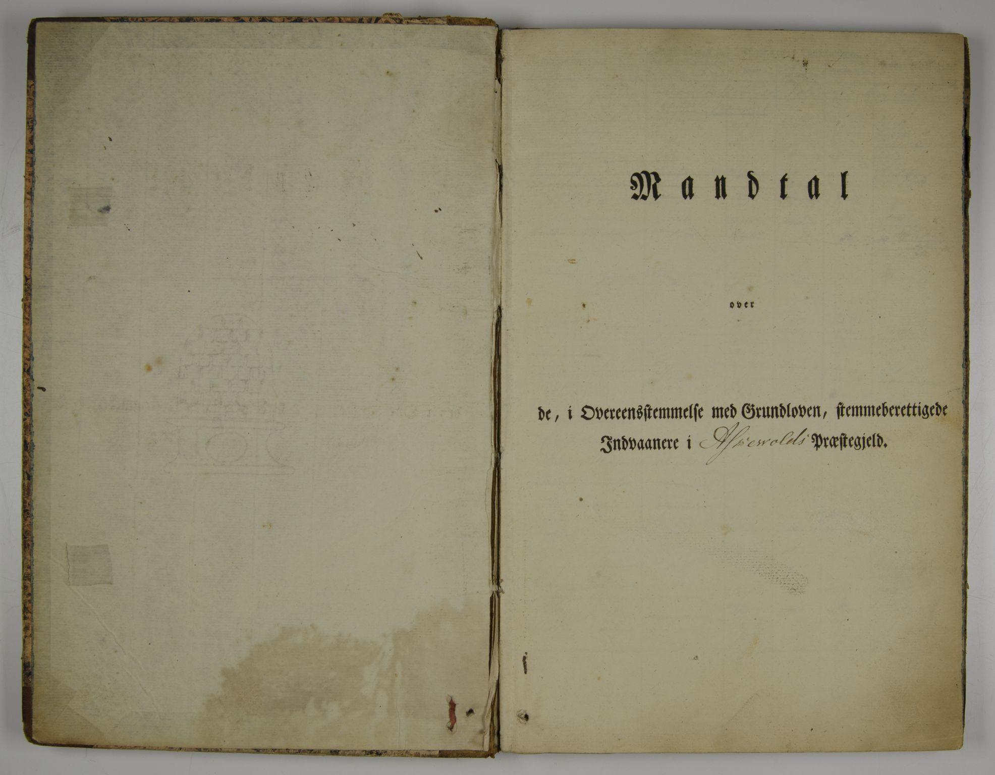 SAB, Lensmannen i Askvoll, 0004/L0001: Manntalsprotokoll, 1829-1897