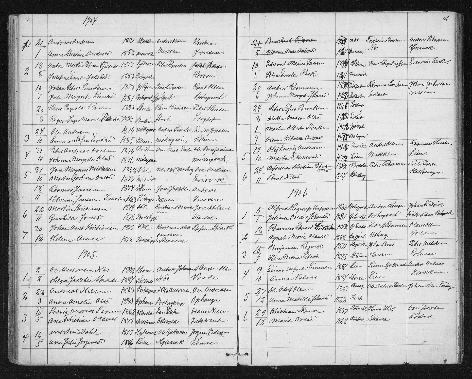SAT, Ministerialprotokoller, klokkerbøker og fødselsregistre - Sør-Trøndelag, 651/L0647: Parish register (copy) no. 651C01, 1866-1914, p. 76